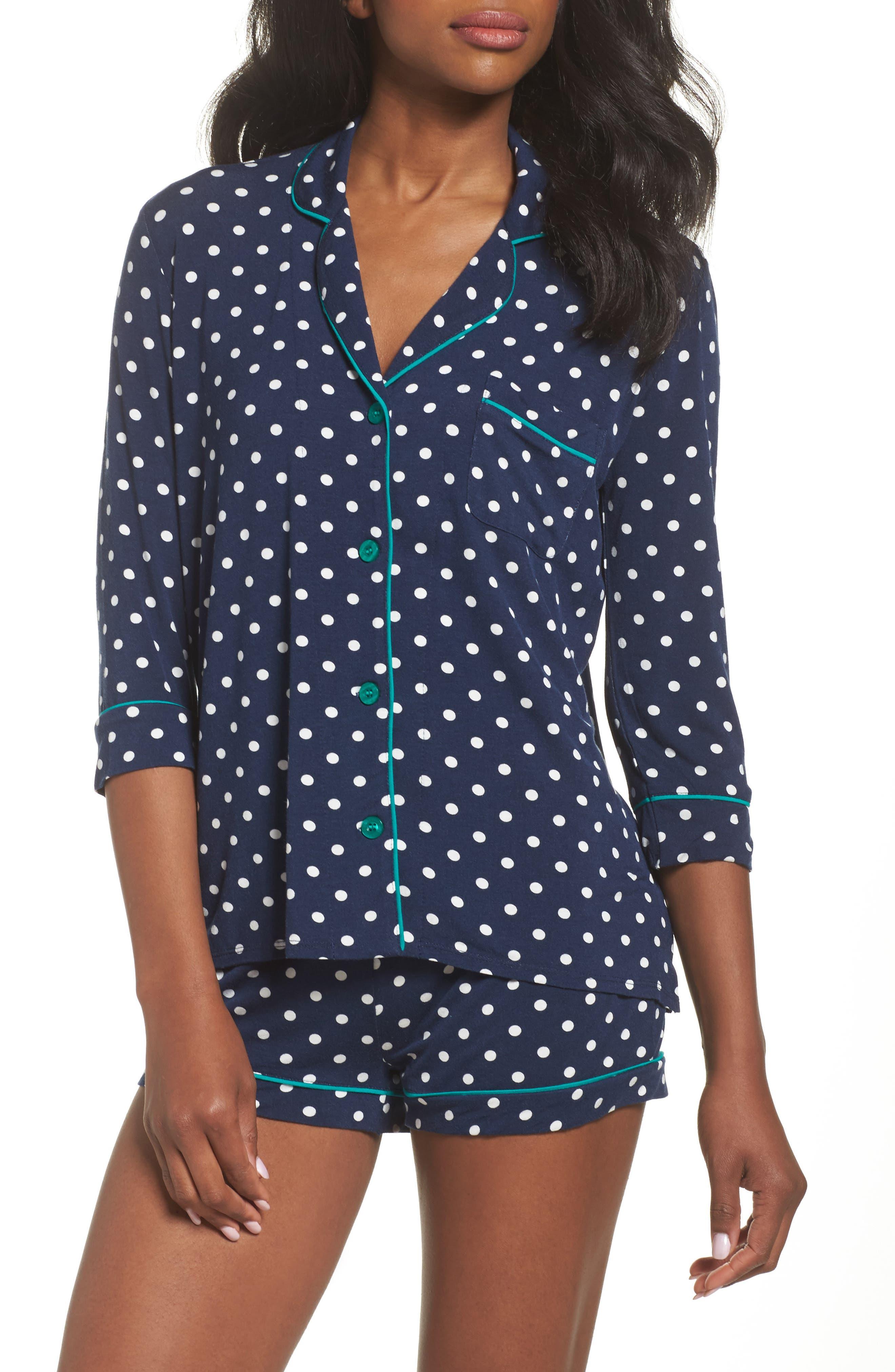 Short Pajamas,                         Main,                         color, Navy