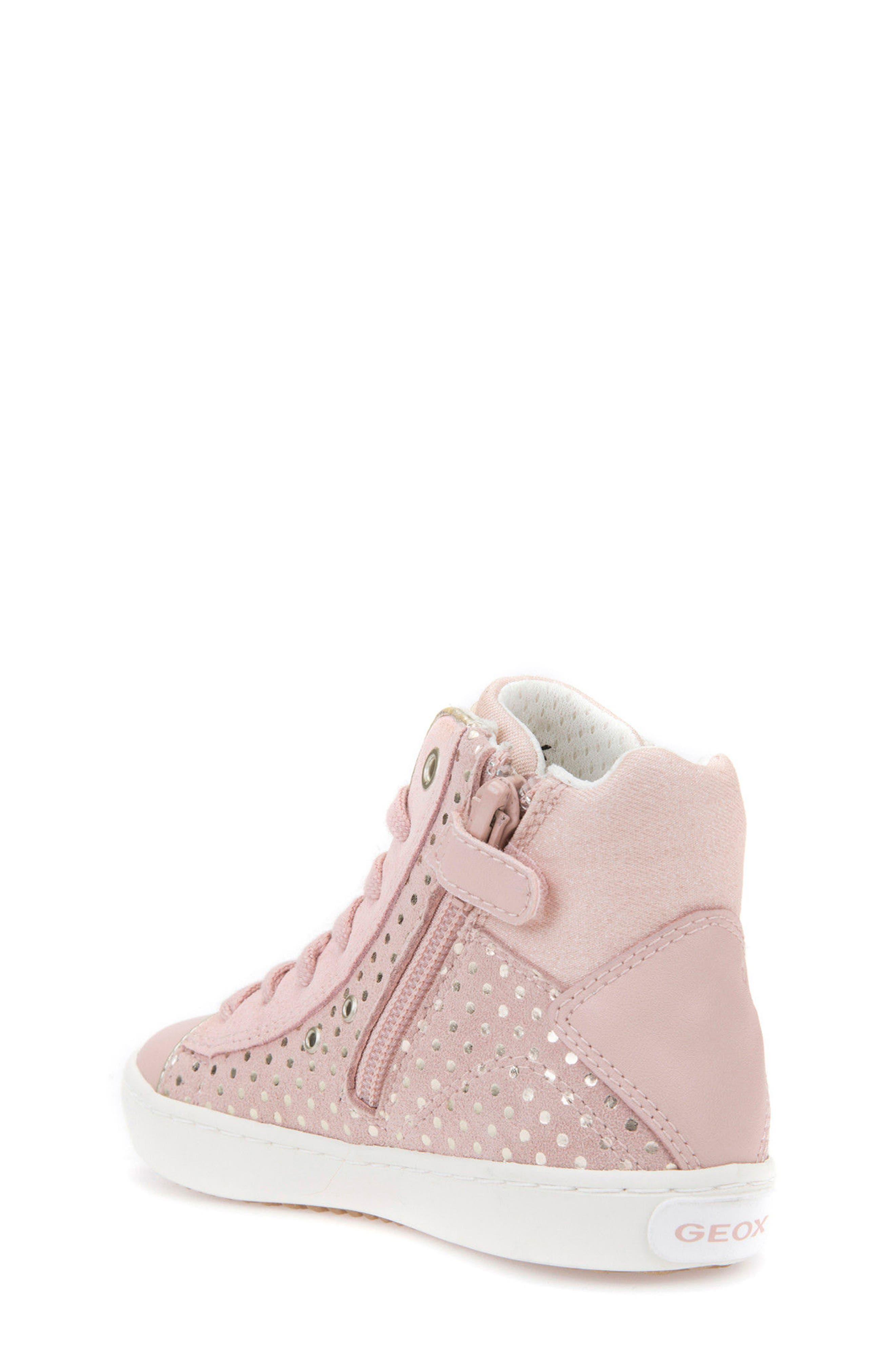 Kilwi High Top Zip Sneaker,                             Alternate thumbnail 2, color,                             Rose