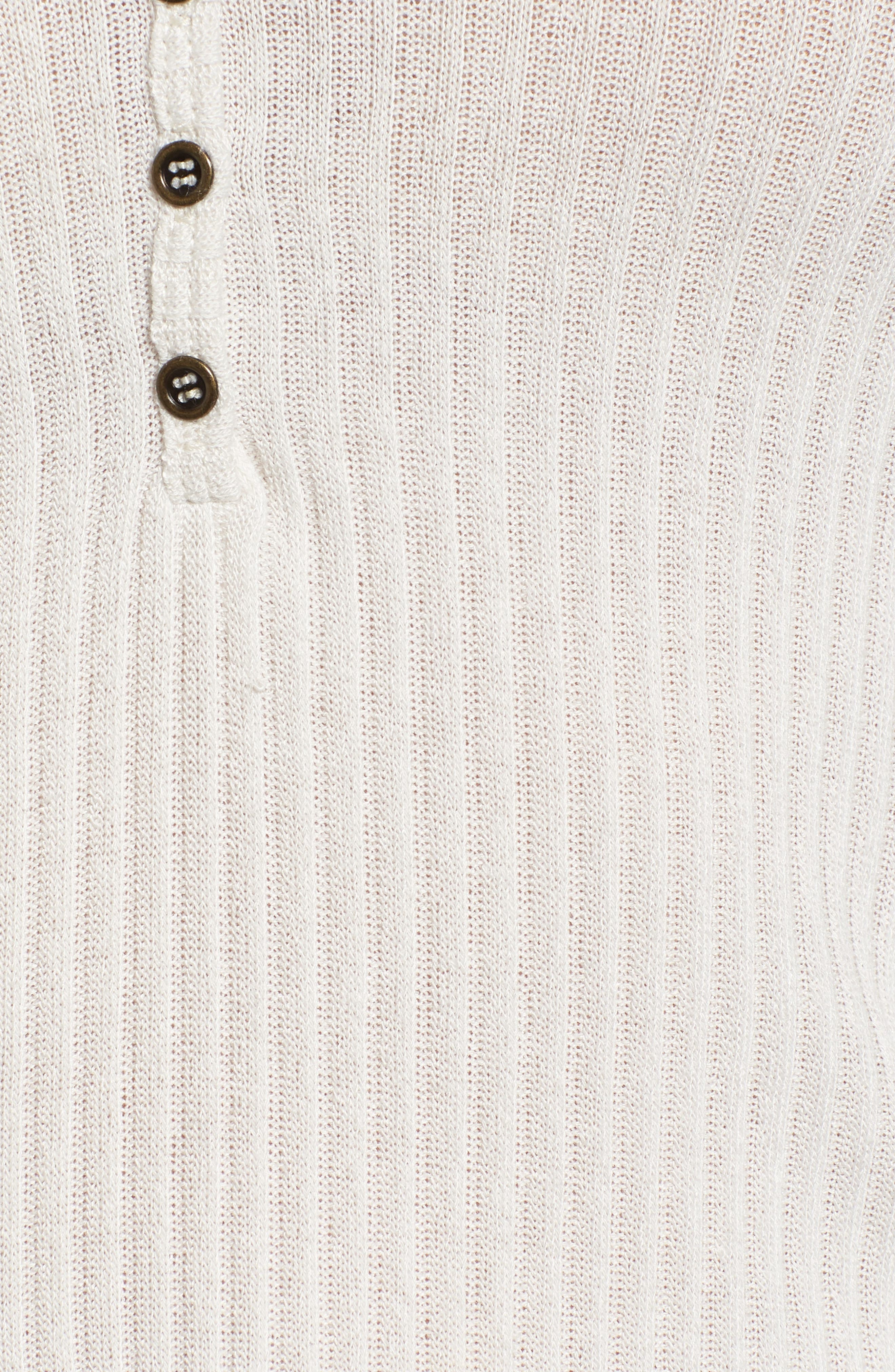 Rib Knit Henley,                             Alternate thumbnail 6, color,                             Taupe
