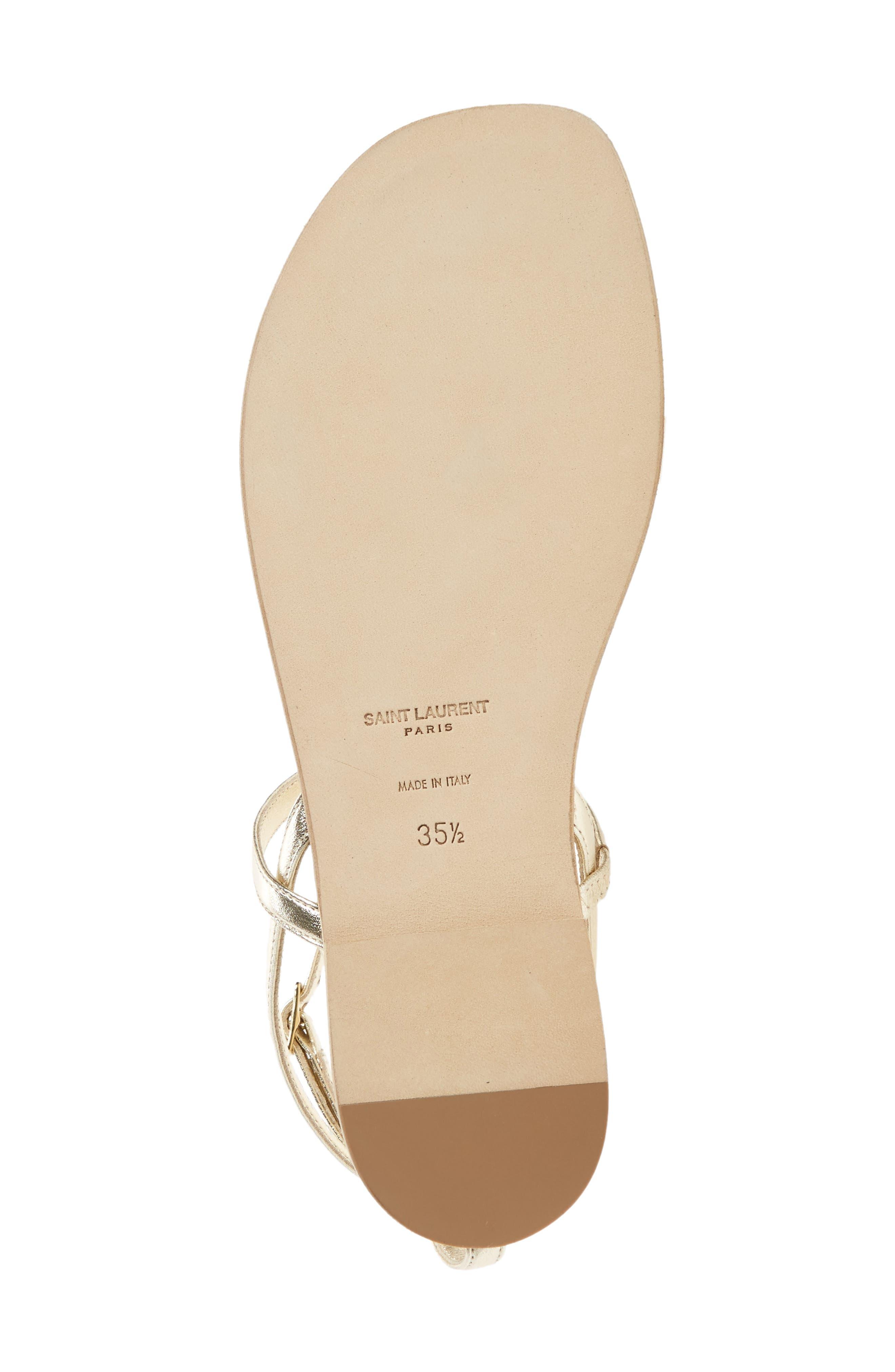 Alternate Image 6  - Saint Laurent Nu Pied T-Strap Sandal (Women)
