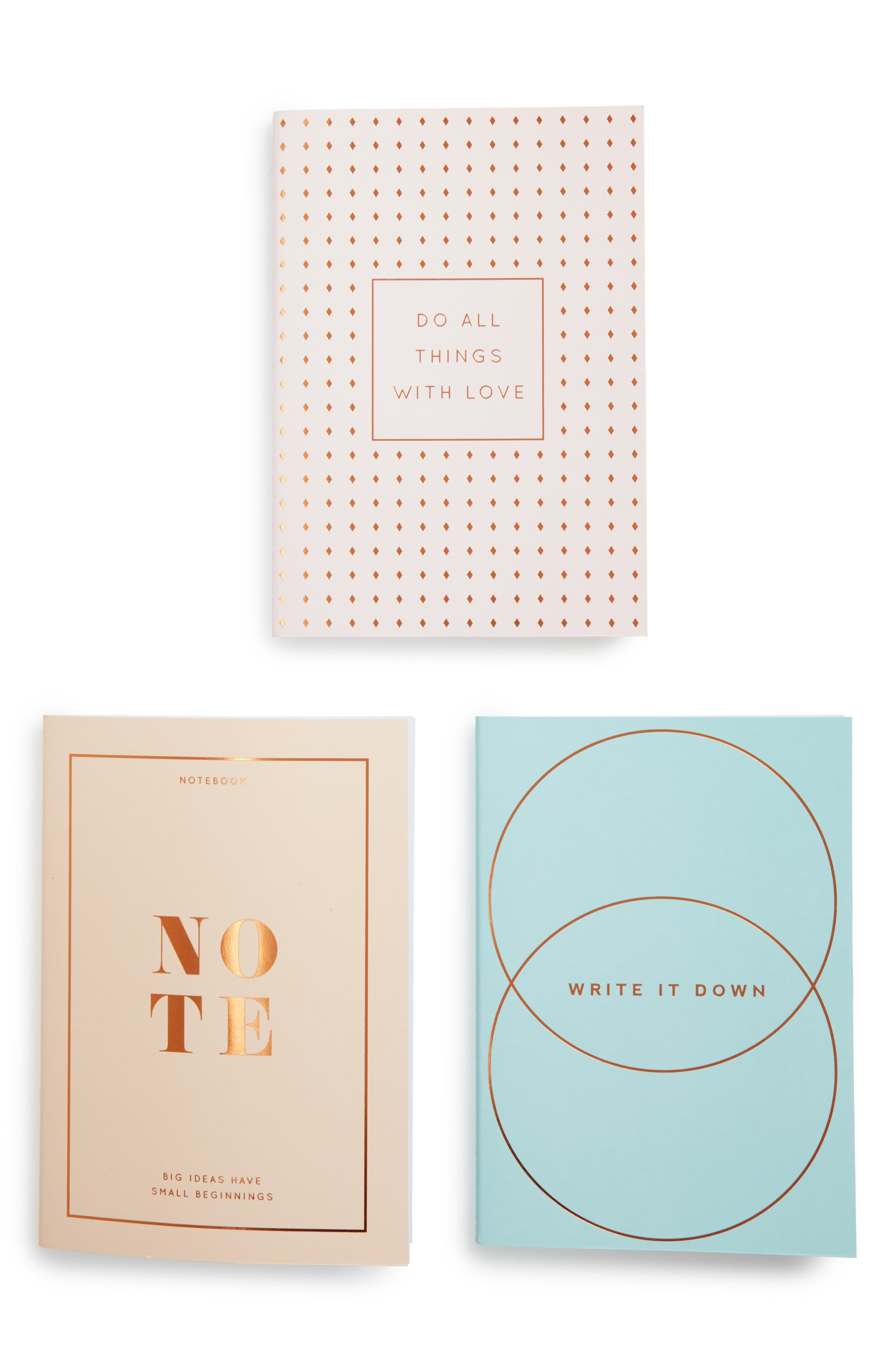 A5 Essential 3-Pack Notebooks,                             Main thumbnail 1, color,                             Multi