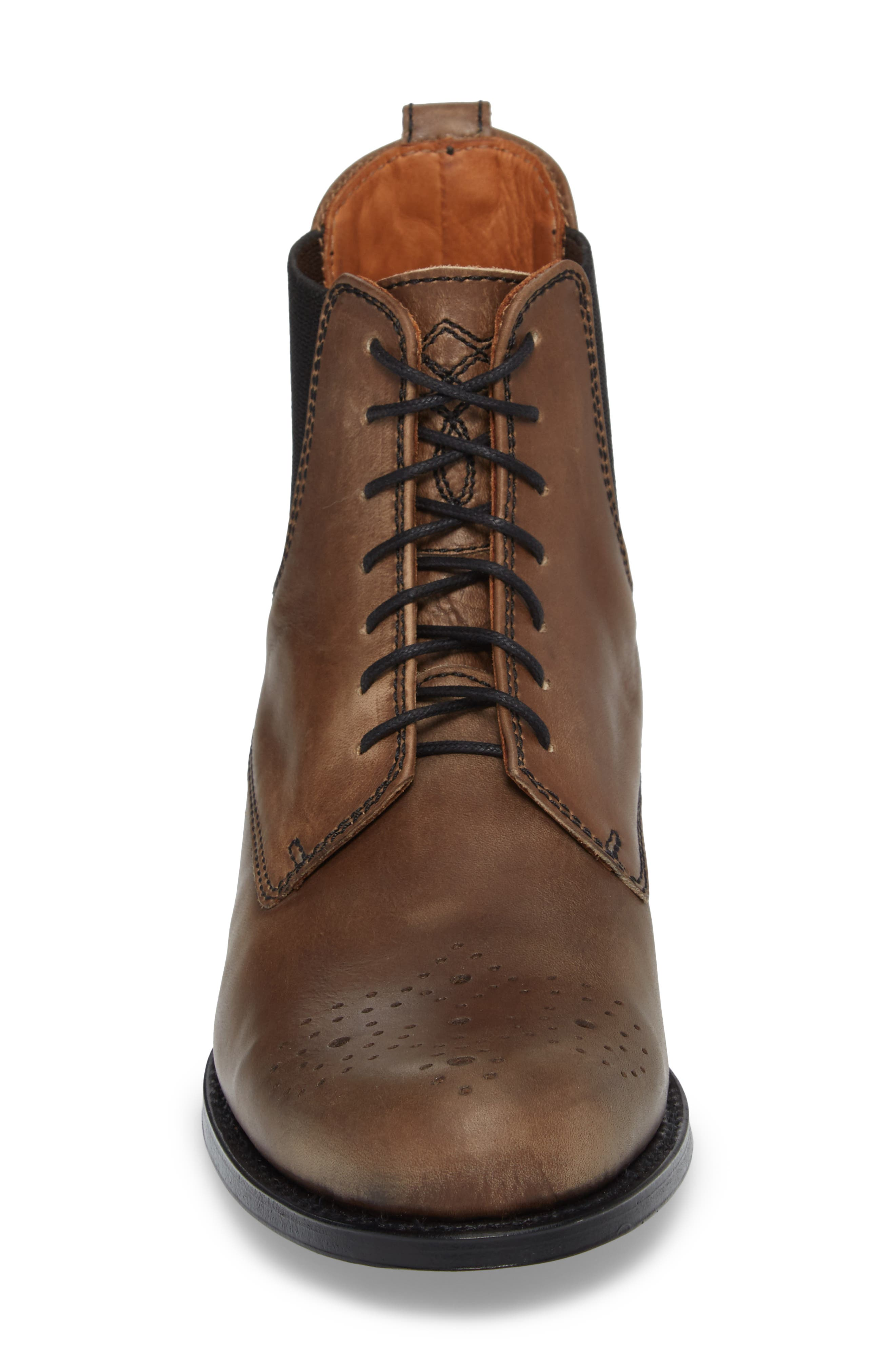 Pedrena Paddock Boot,                             Alternate thumbnail 4, color,                             Grey Leather