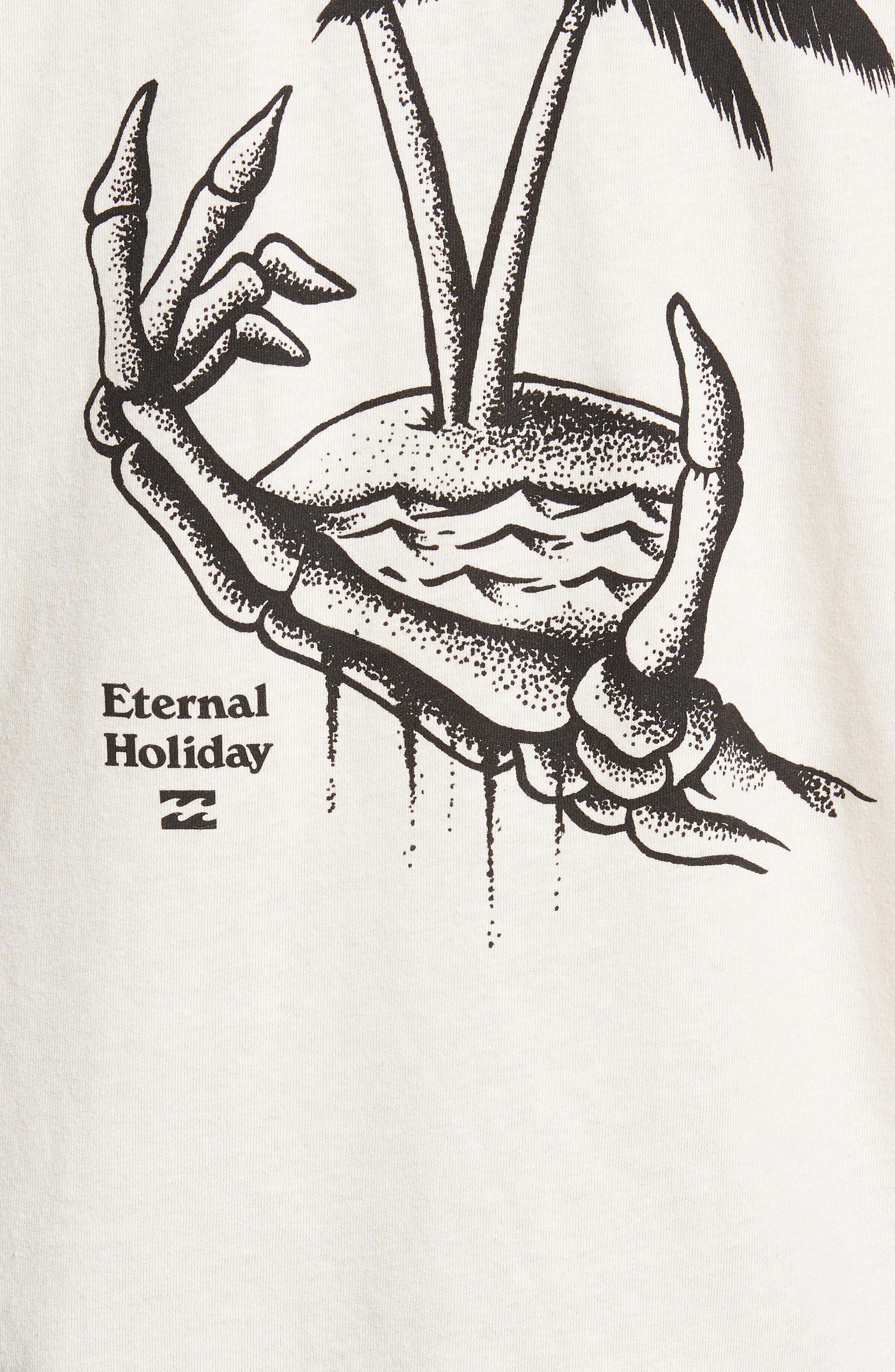 Permanent Vacation Graphic T-Shirt,                             Alternate thumbnail 6, color,                             Rock
