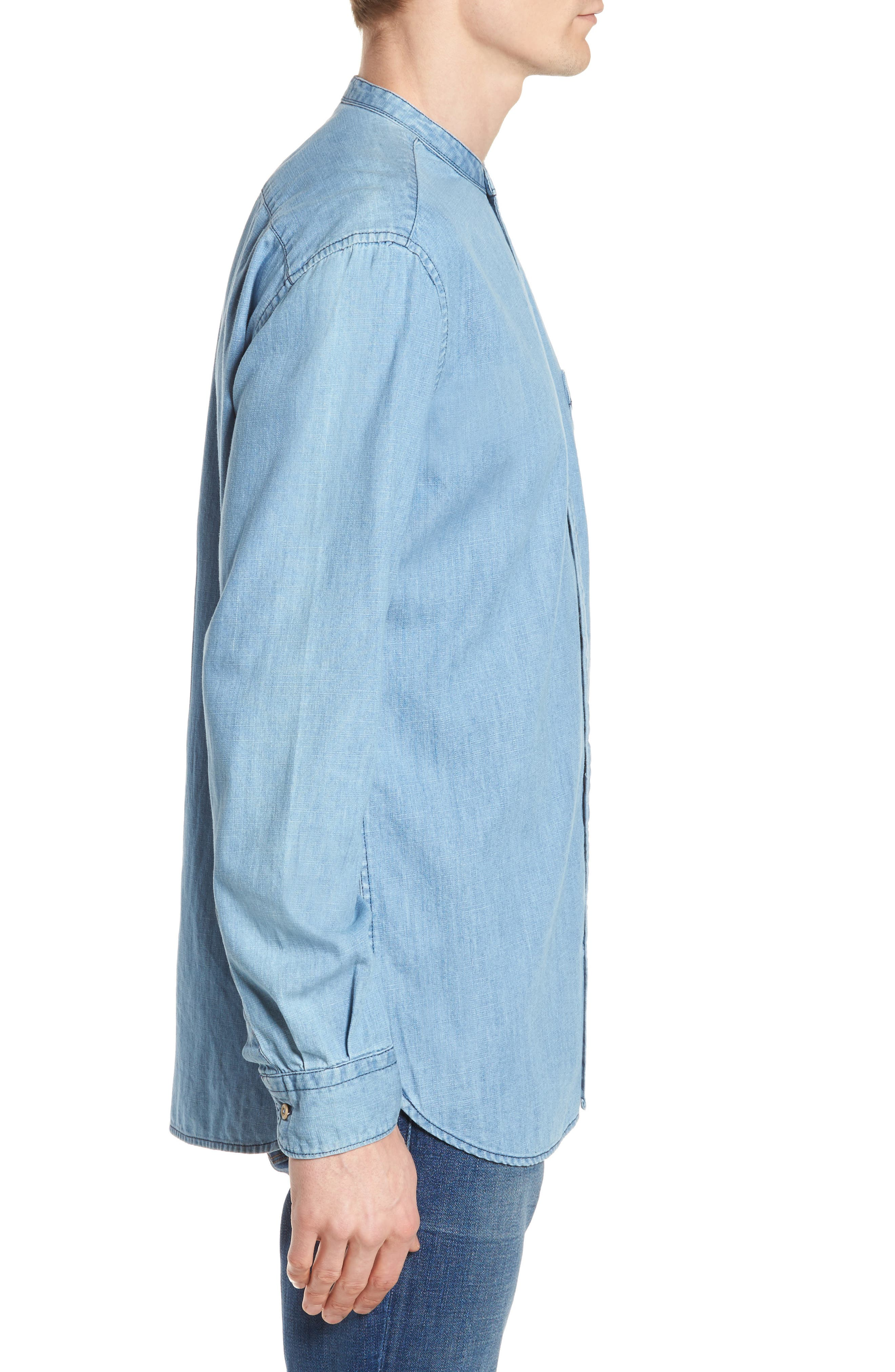 Core Denim Regular Fit Sport Shirt,                             Alternate thumbnail 3, color,                             Bleach