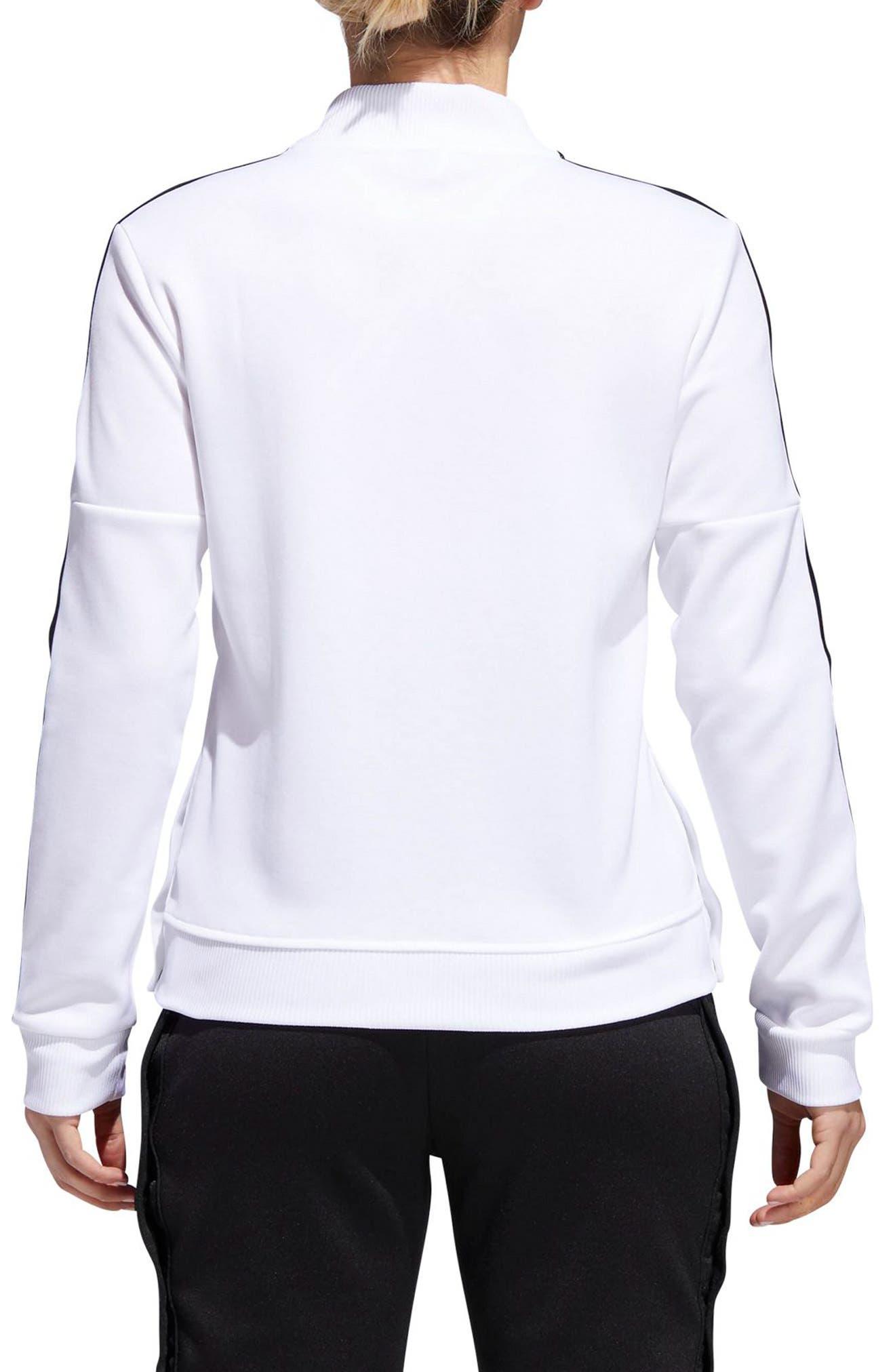 Tricot Snap It Track Jacket,                             Alternate thumbnail 2, color,                             White/ Black