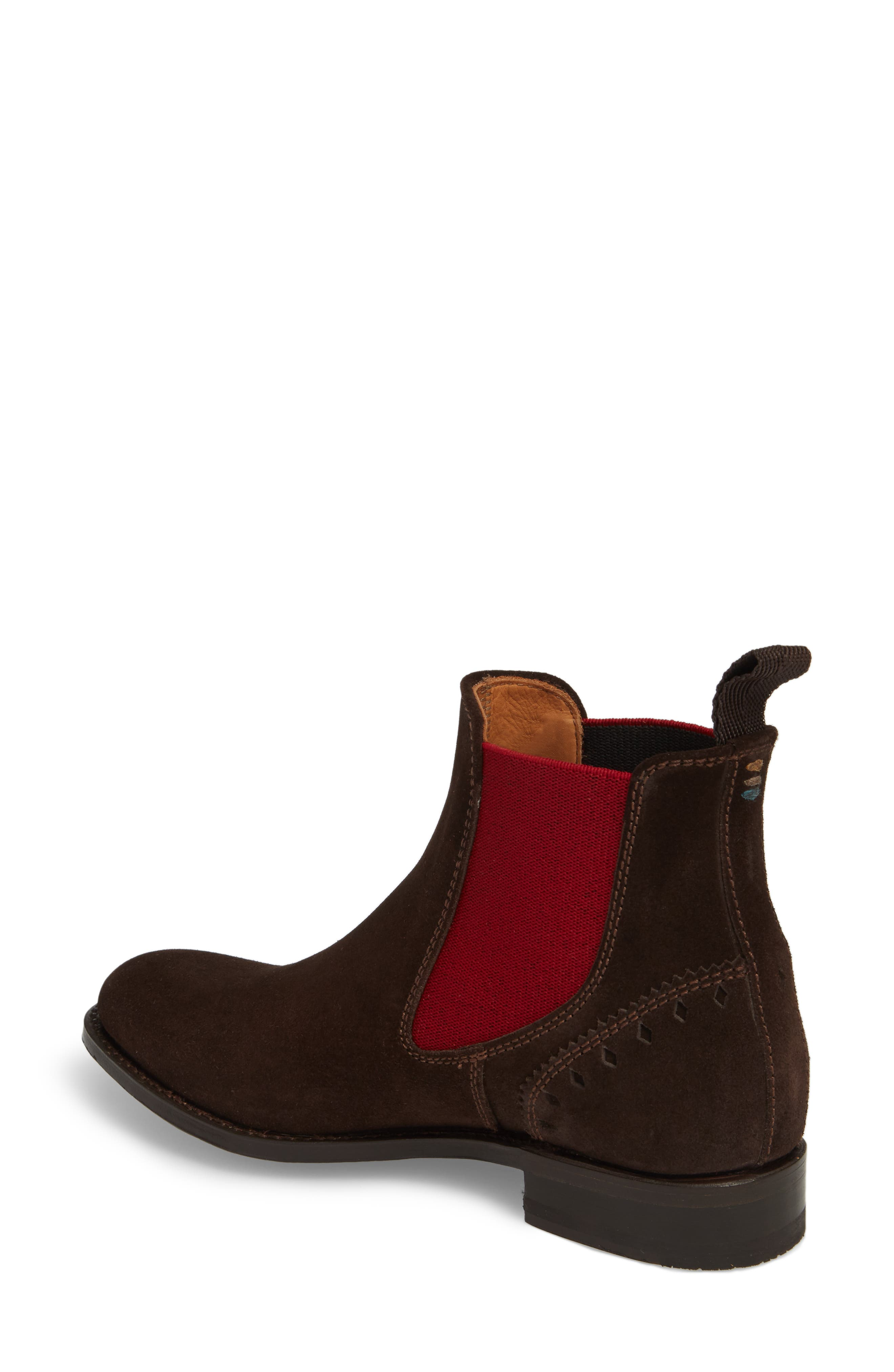Benissa Lux Chelsea Boot,                             Alternate thumbnail 2, color,                             Brown Suede