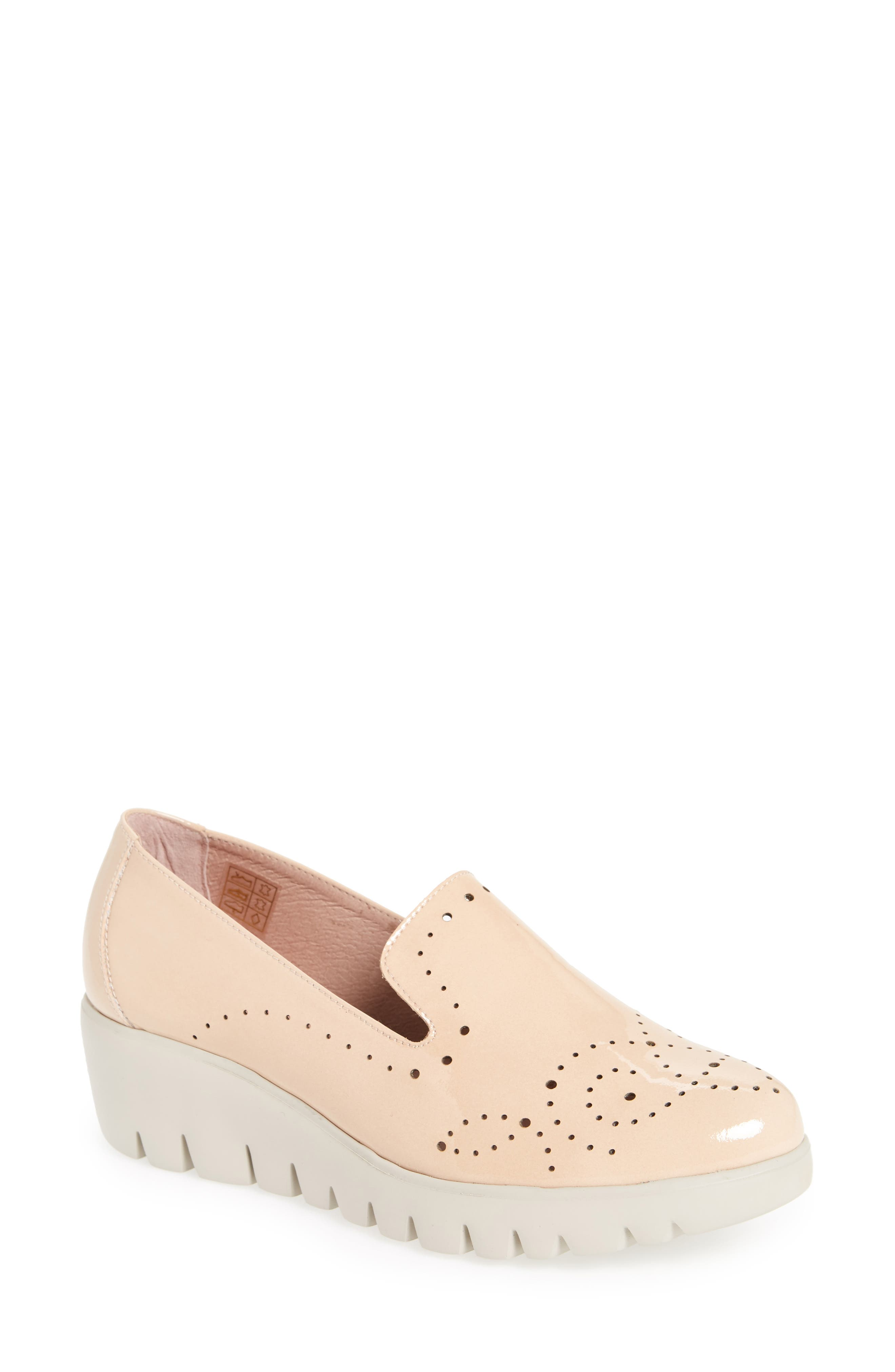 C-33114 Loafer Wedge,                             Main thumbnail 1, color,                             Palo Beige Leather