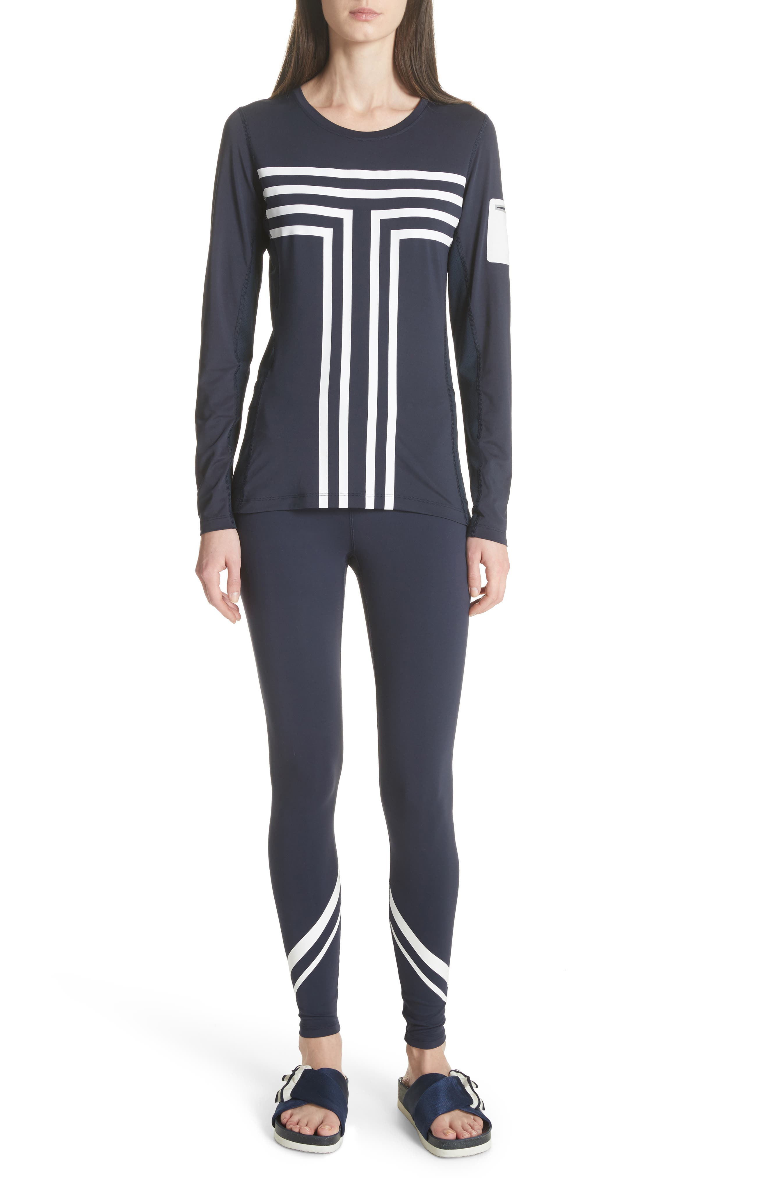Graphic Performance Top,                             Alternate thumbnail 7, color,                             Tory Navy