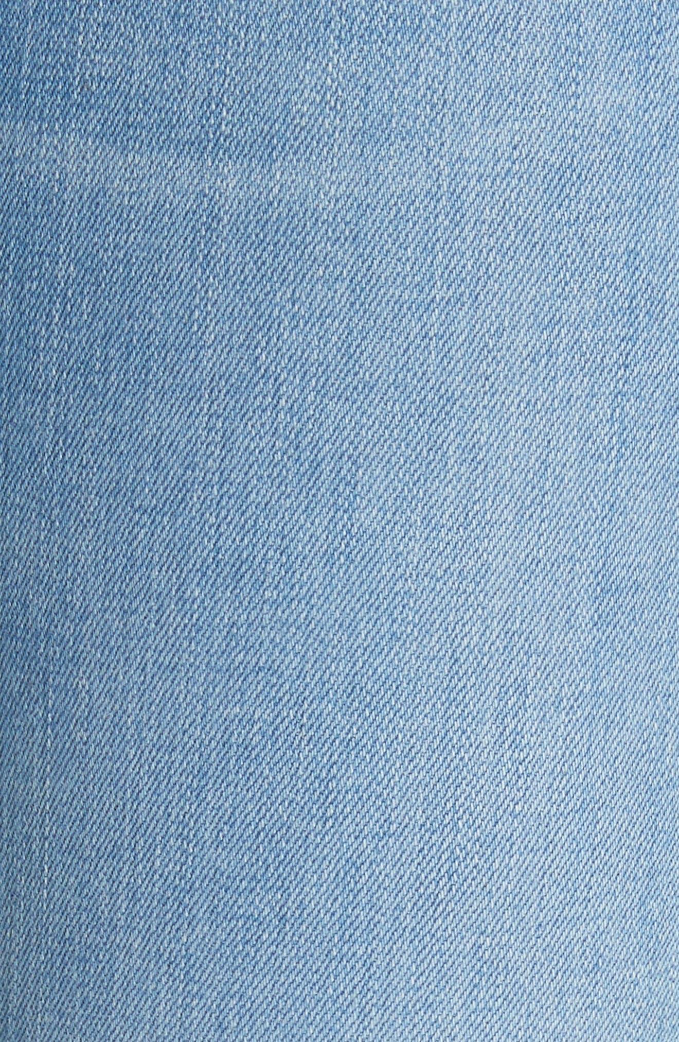 Carolyn Crop Baby Boot Jeans,                             Alternate thumbnail 5, color,                             Ocean Blue