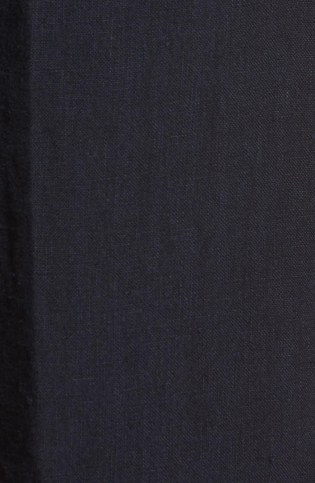 & Bros. Linen Shorts,                             Alternate thumbnail 5, color,                             Alpine Navy