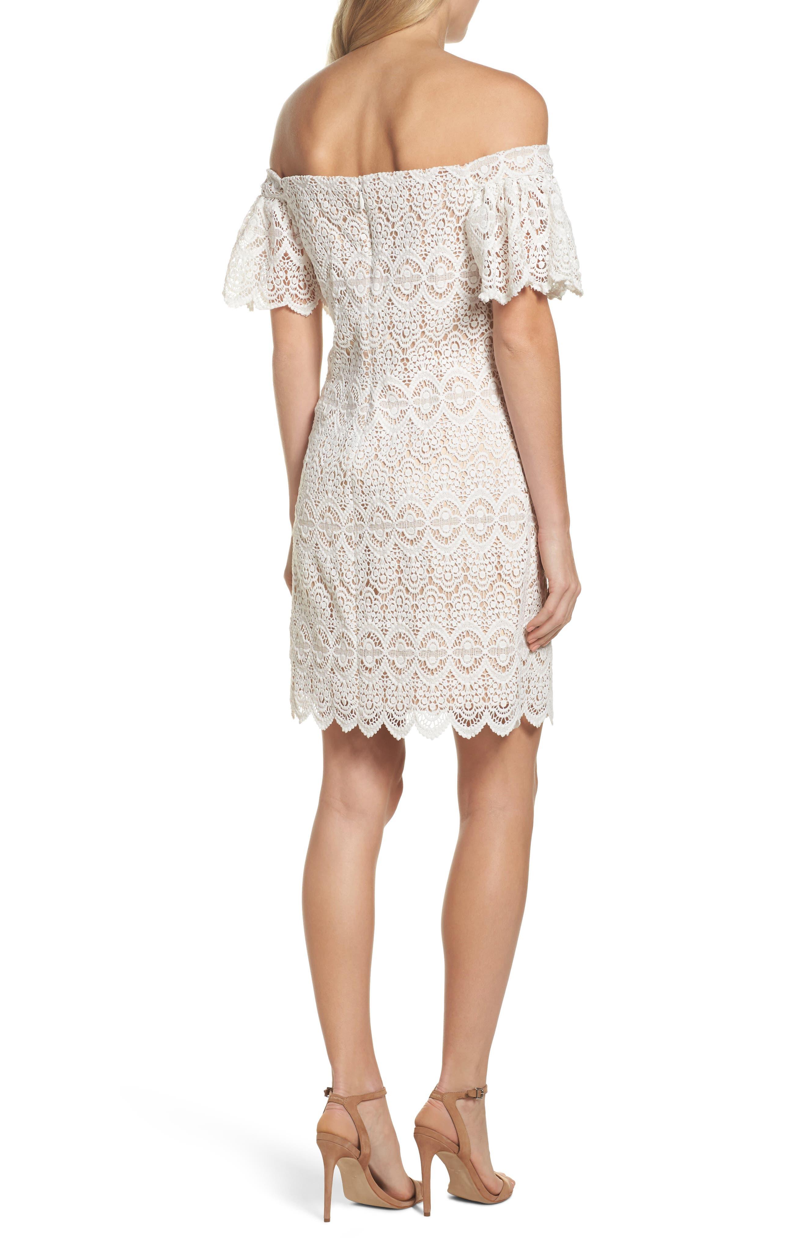 Alternate Image 2  - Eliza J Off the Shoulder Lace Dress