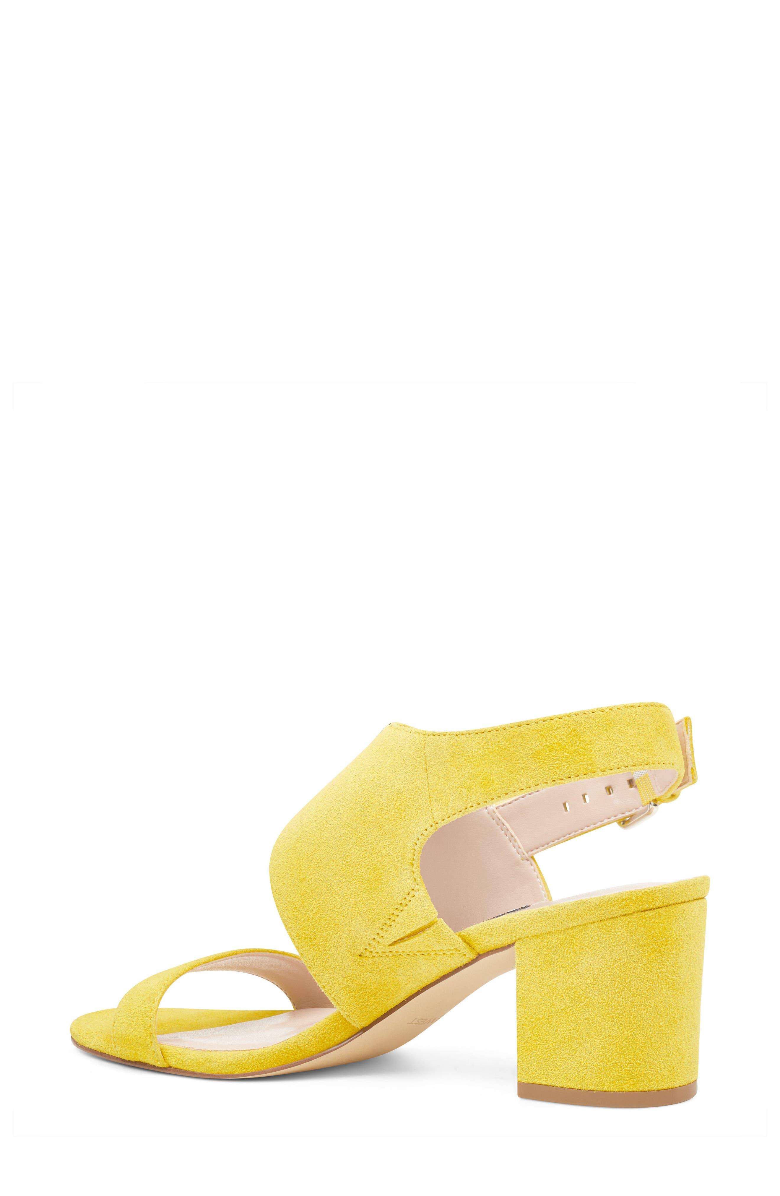 Forli Asymmetrical Sandal,                             Alternate thumbnail 2, color,                             Yellow Suede