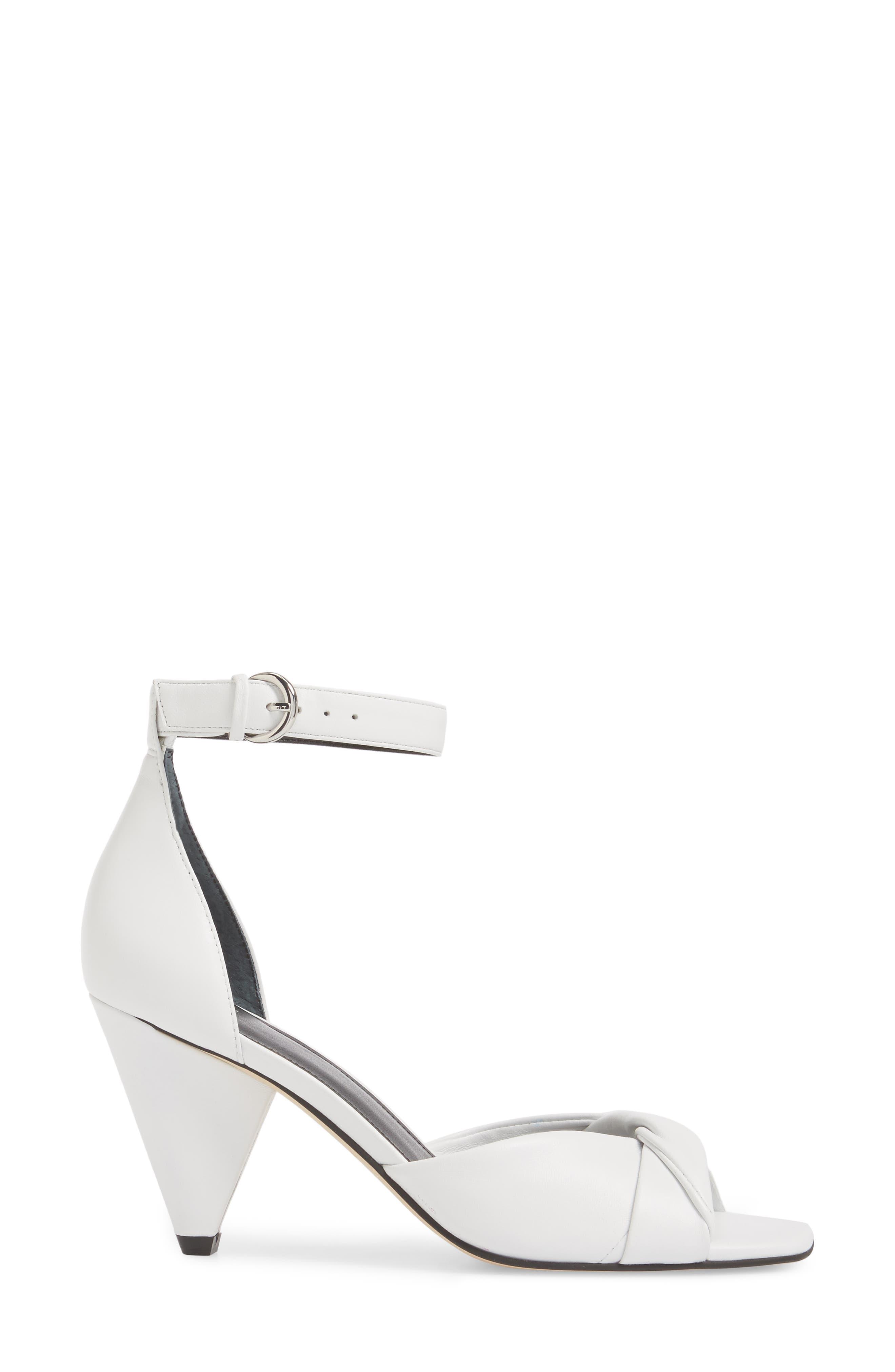 Ivory Sandal,                             Alternate thumbnail 3, color,                             White Leather