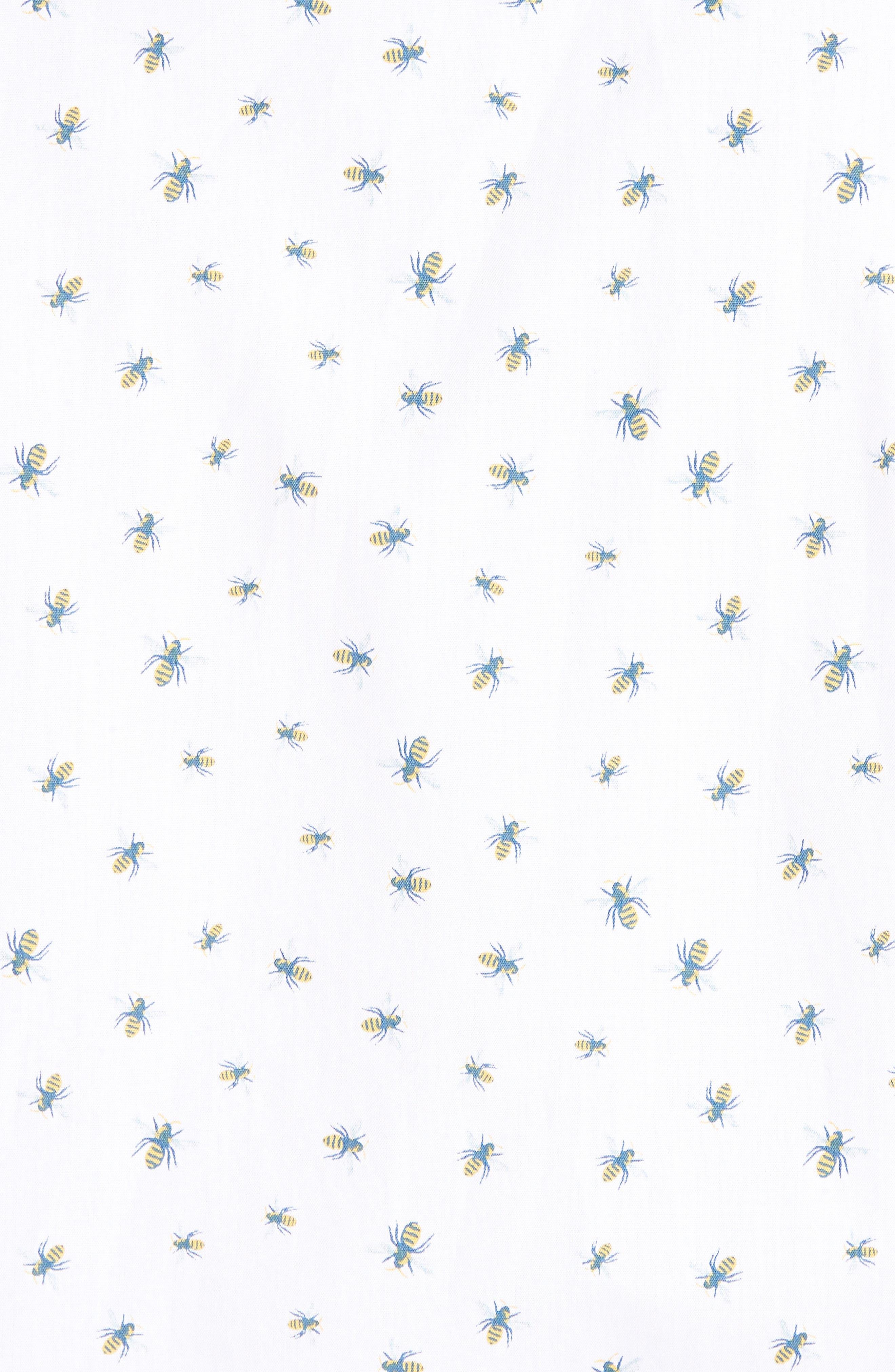 Trim Fit Bee Print Sport Shirt,                             Alternate thumbnail 5, color,                             White Bumble Bees