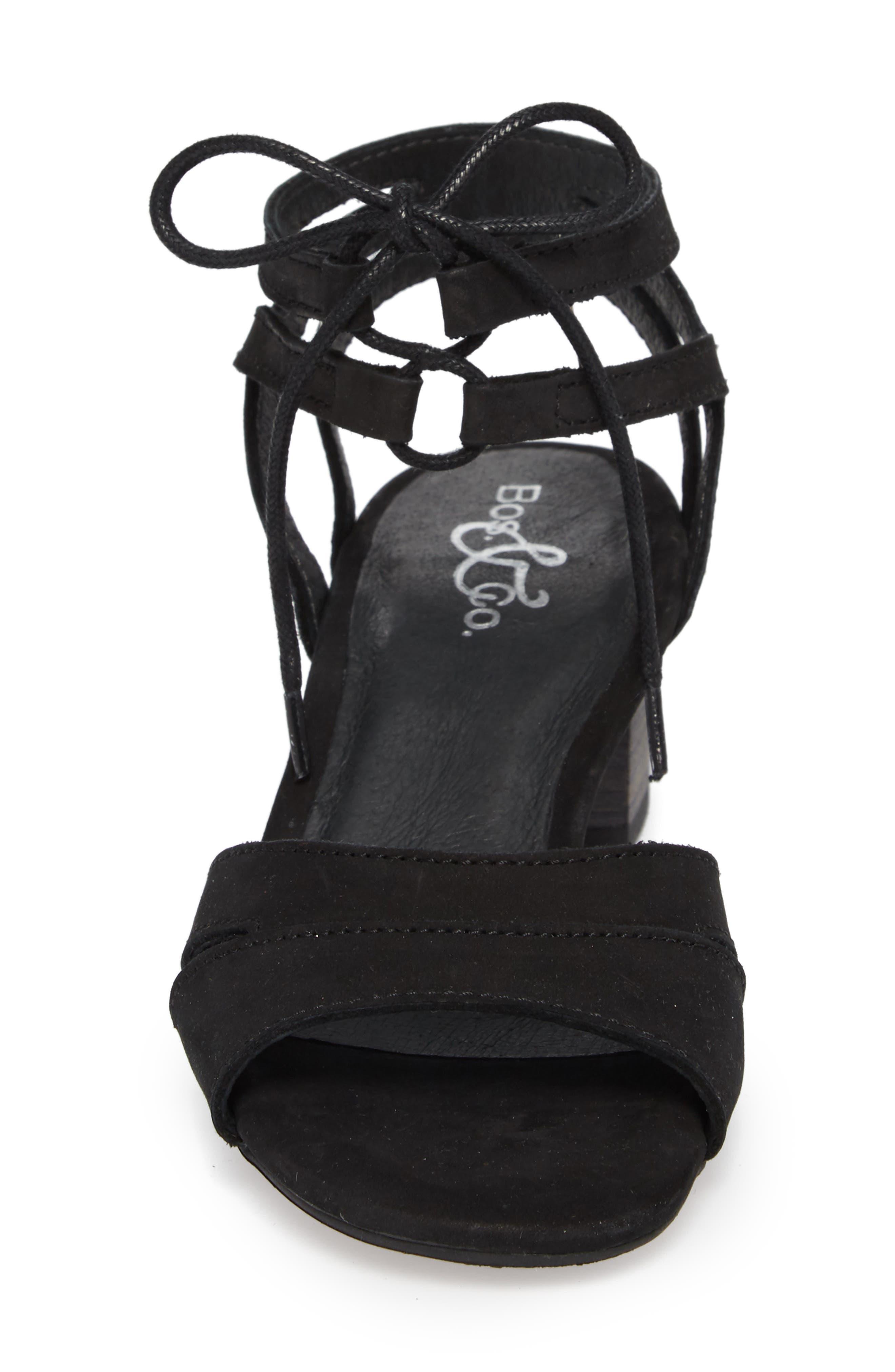 Zorita Sandal,                             Alternate thumbnail 4, color,                             Black Nubuck Leather
