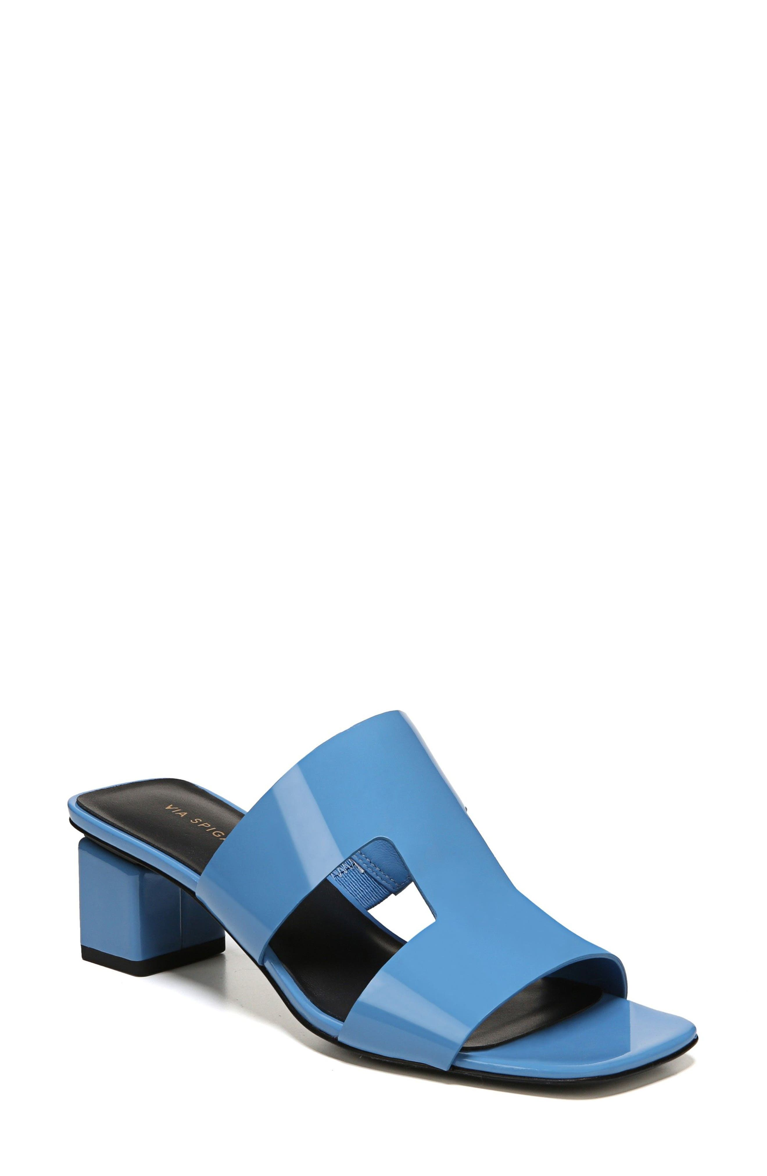 Florence Sandal,                         Main,                         color, Sky Patent Leather