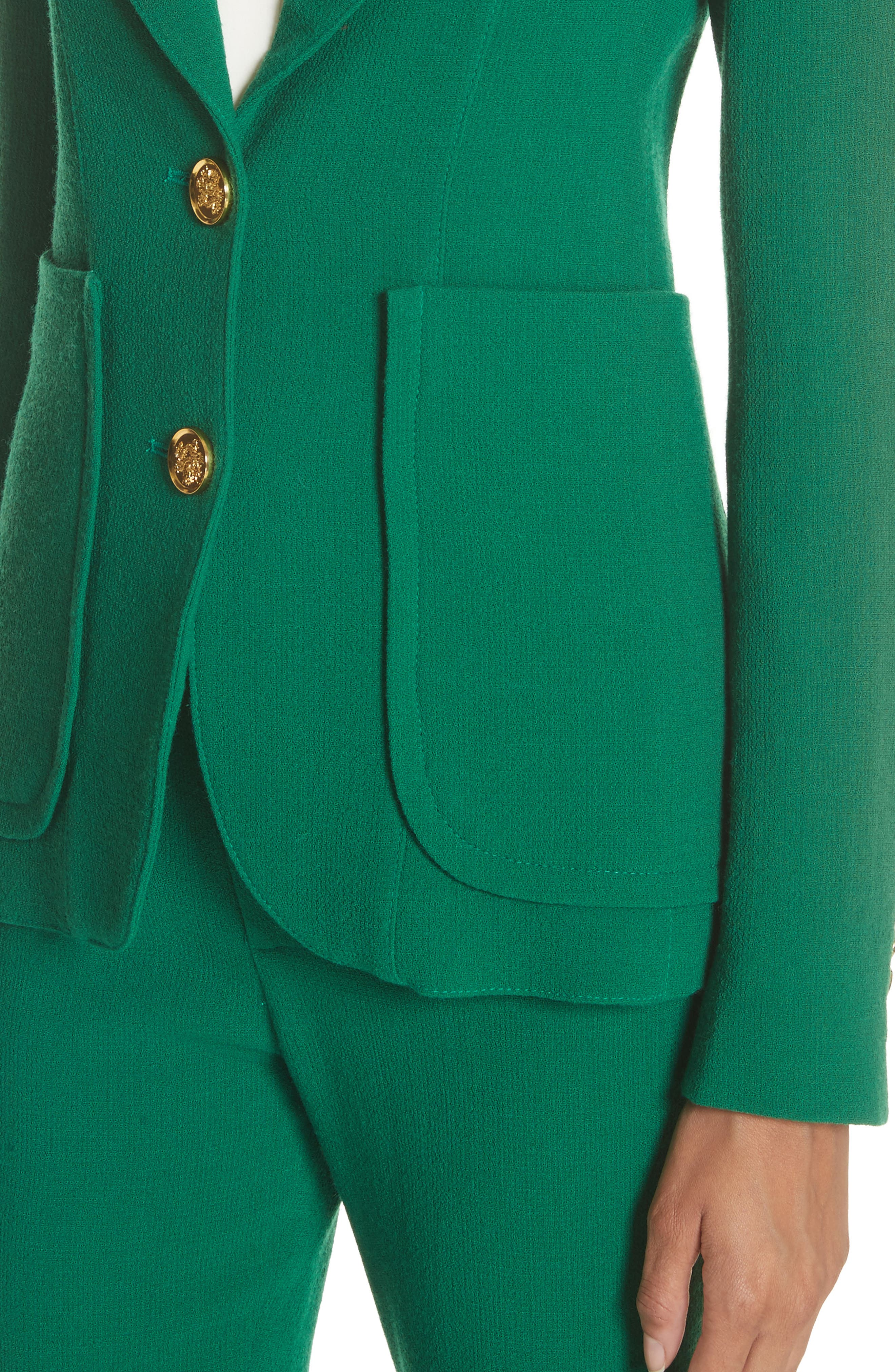 Wool Blazer,                             Alternate thumbnail 4, color,                             Kelly Green
