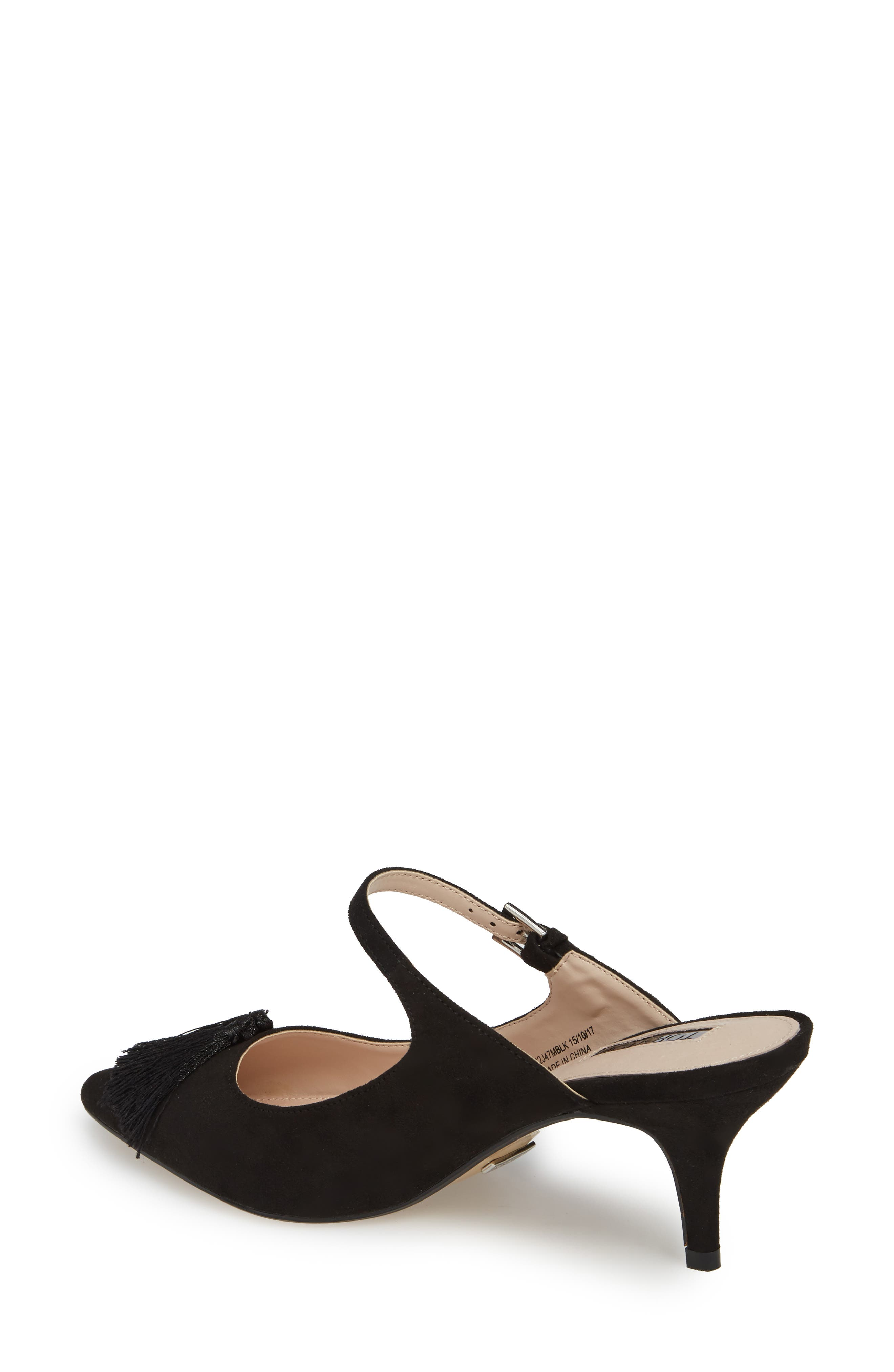 Jumbo Tassel Mule,                             Alternate thumbnail 2, color,                             Black