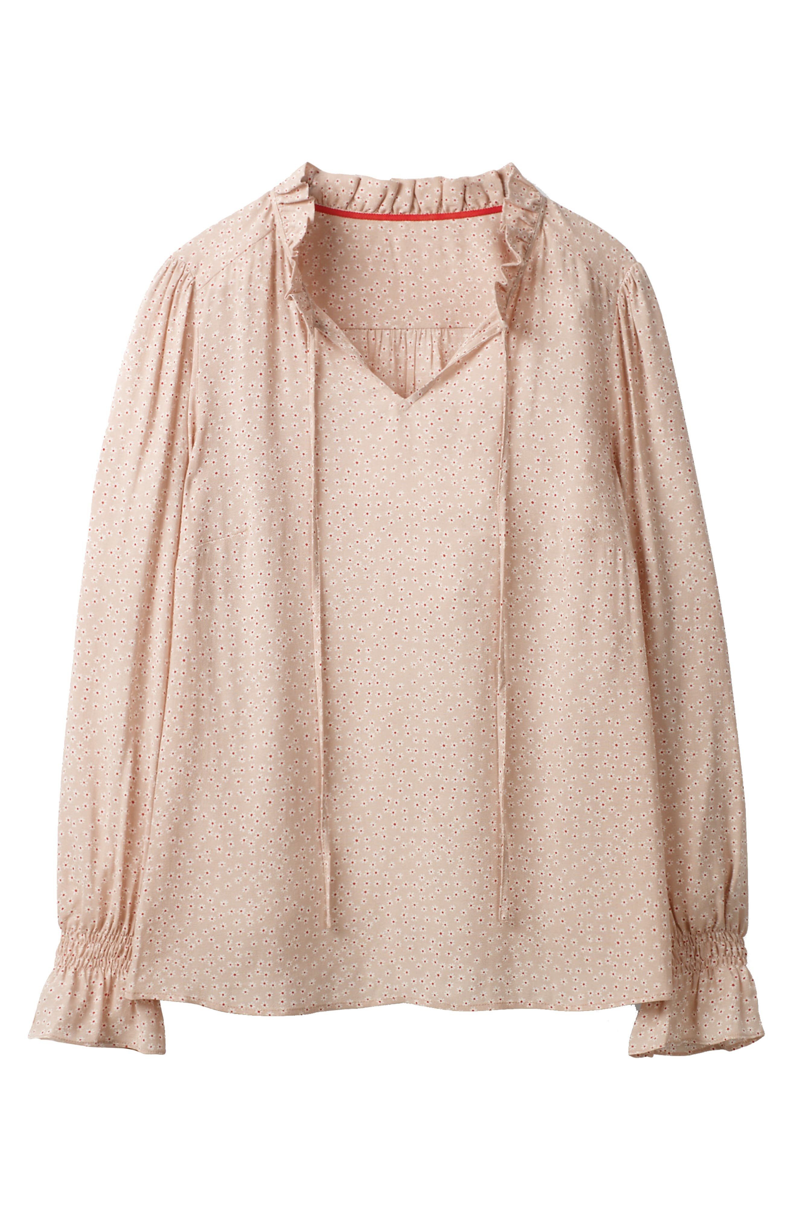 Hotch Potch Ruffled Top,                             Alternate thumbnail 6, color,                             Pink Pearl/ Daisy Sm