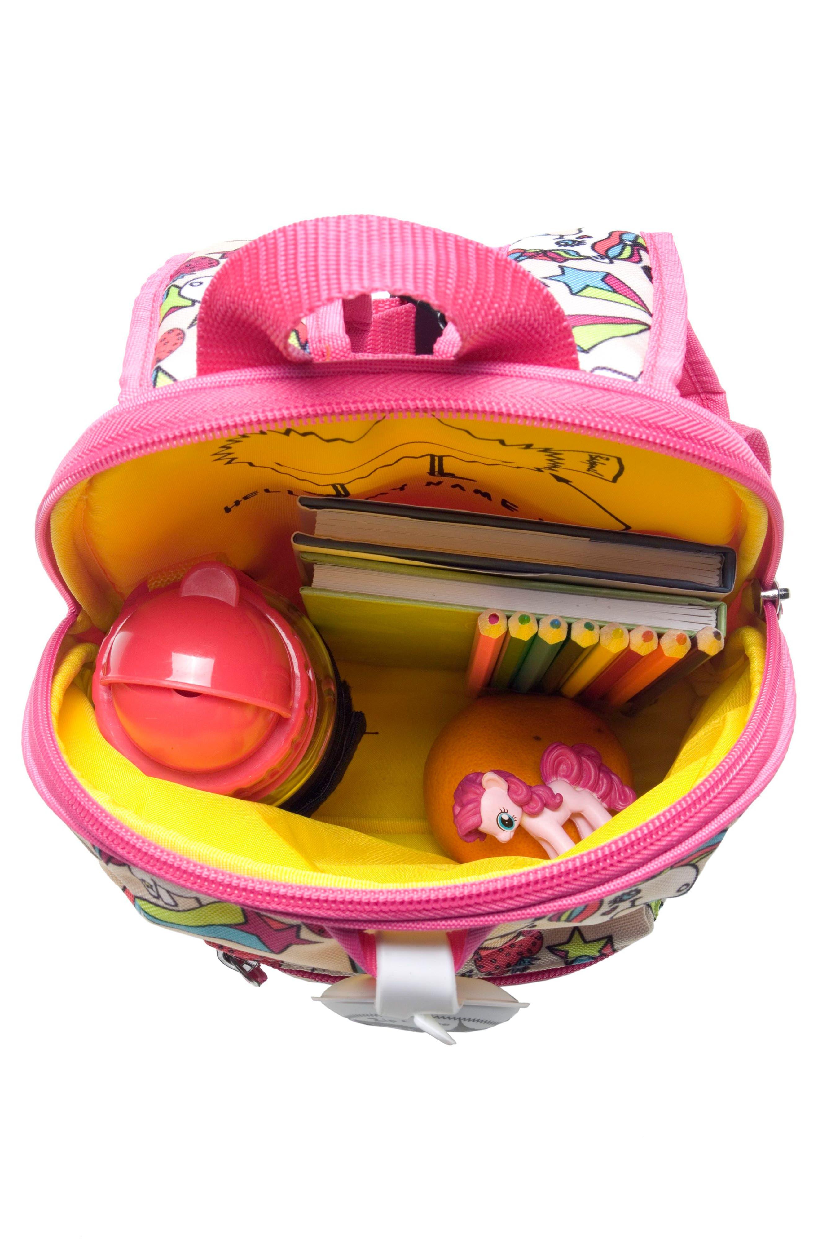 Zip & Zoe Unicorn Mini Backpack,                             Alternate thumbnail 3, color,                             Unicorn