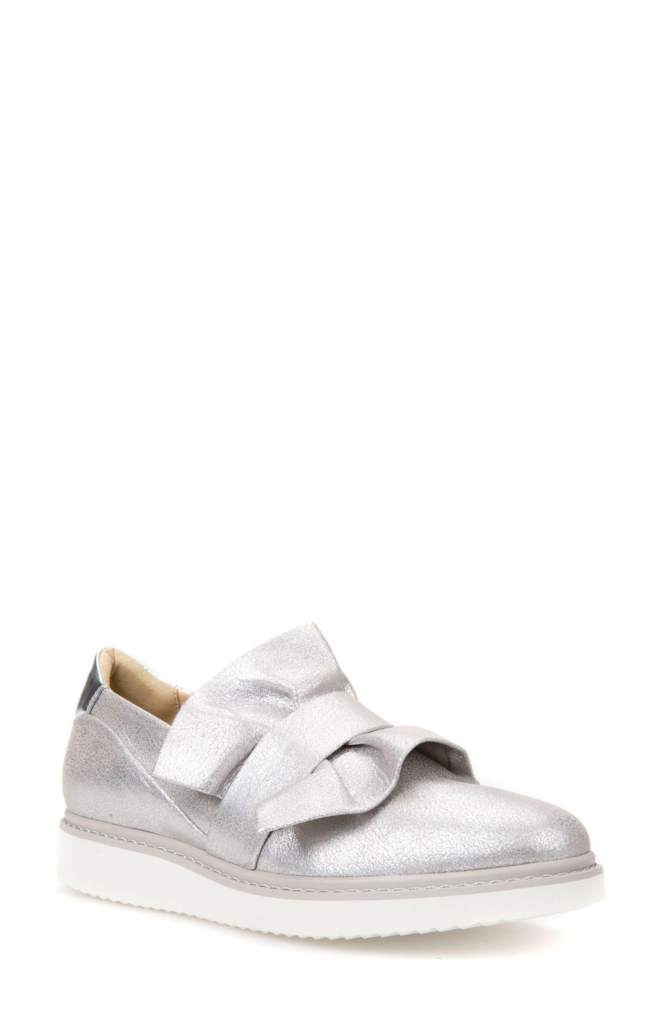 Thymar 15 Slip-On Sneaker,                             Main thumbnail 1, color,                             Silver Fabric