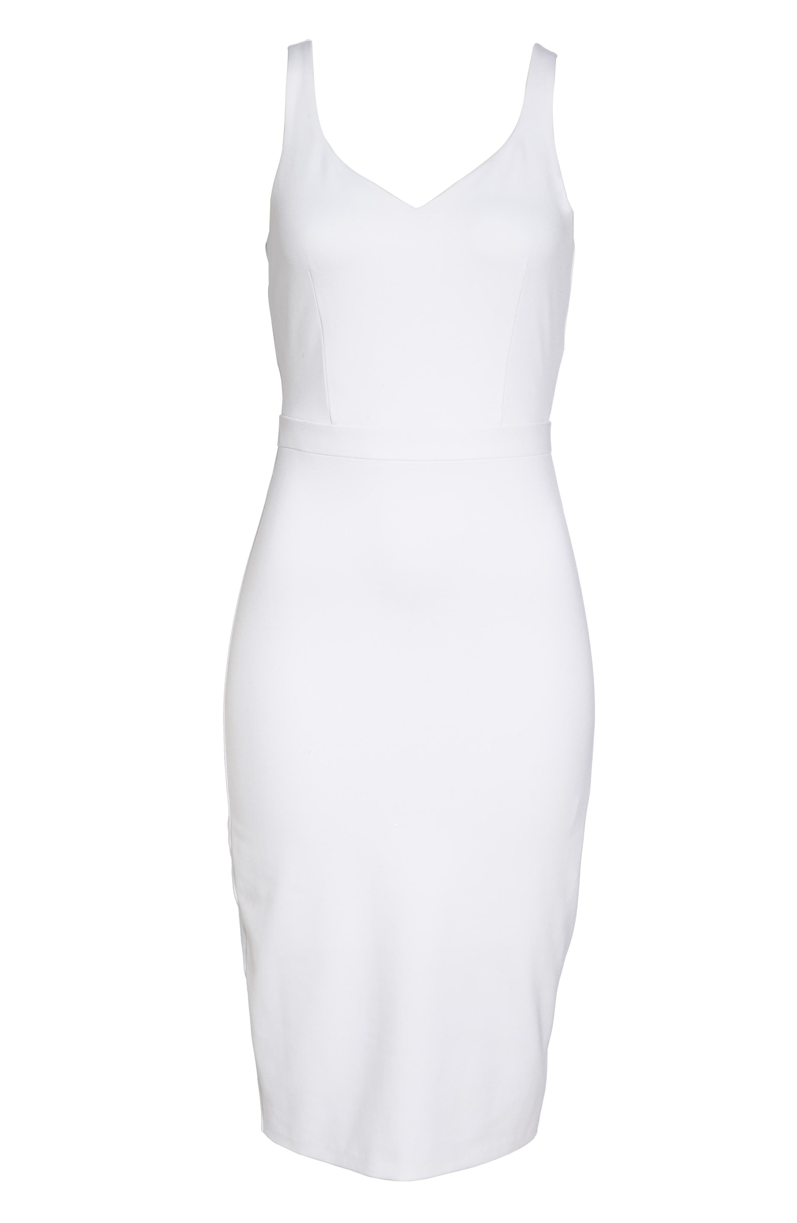 First Date Sheath Dress,                             Alternate thumbnail 7, color,                             White