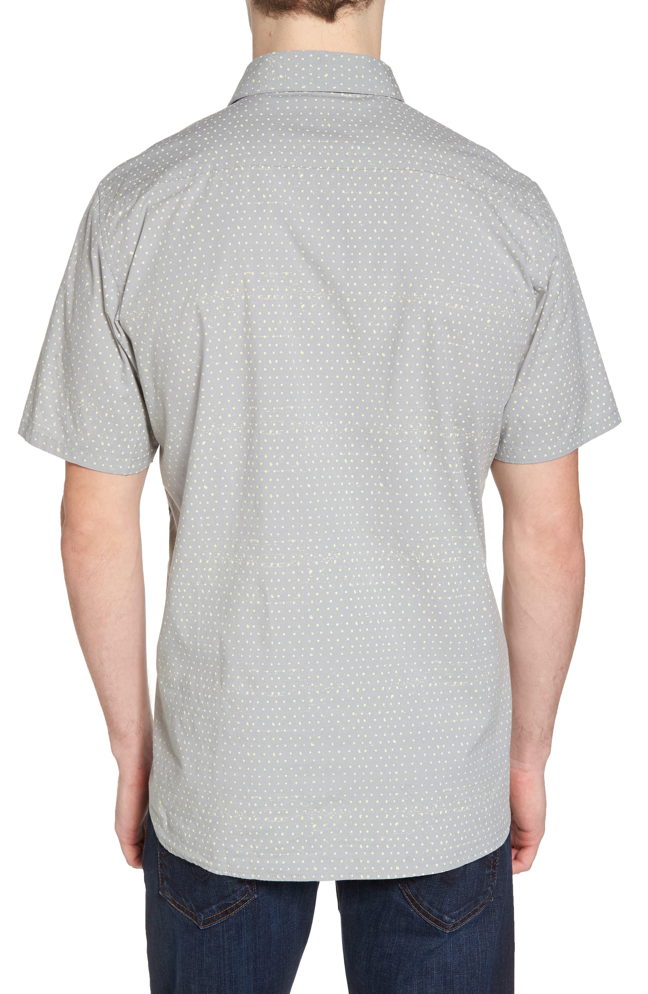 Jones Dot Woven Shirt,                             Alternate thumbnail 2, color,                             Light Pumice