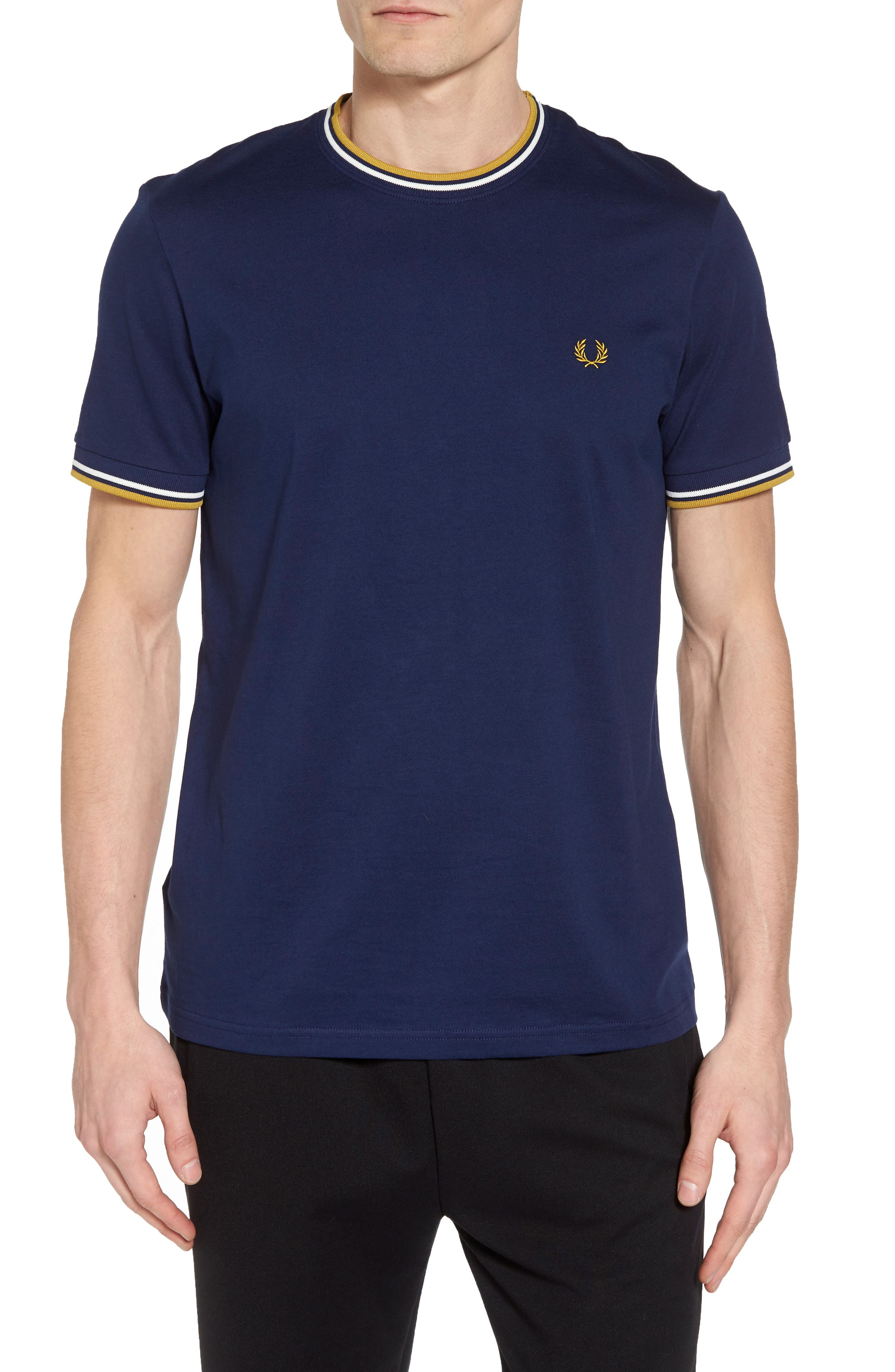 Tipped T-Shirt,                         Main,                         color, French Navy