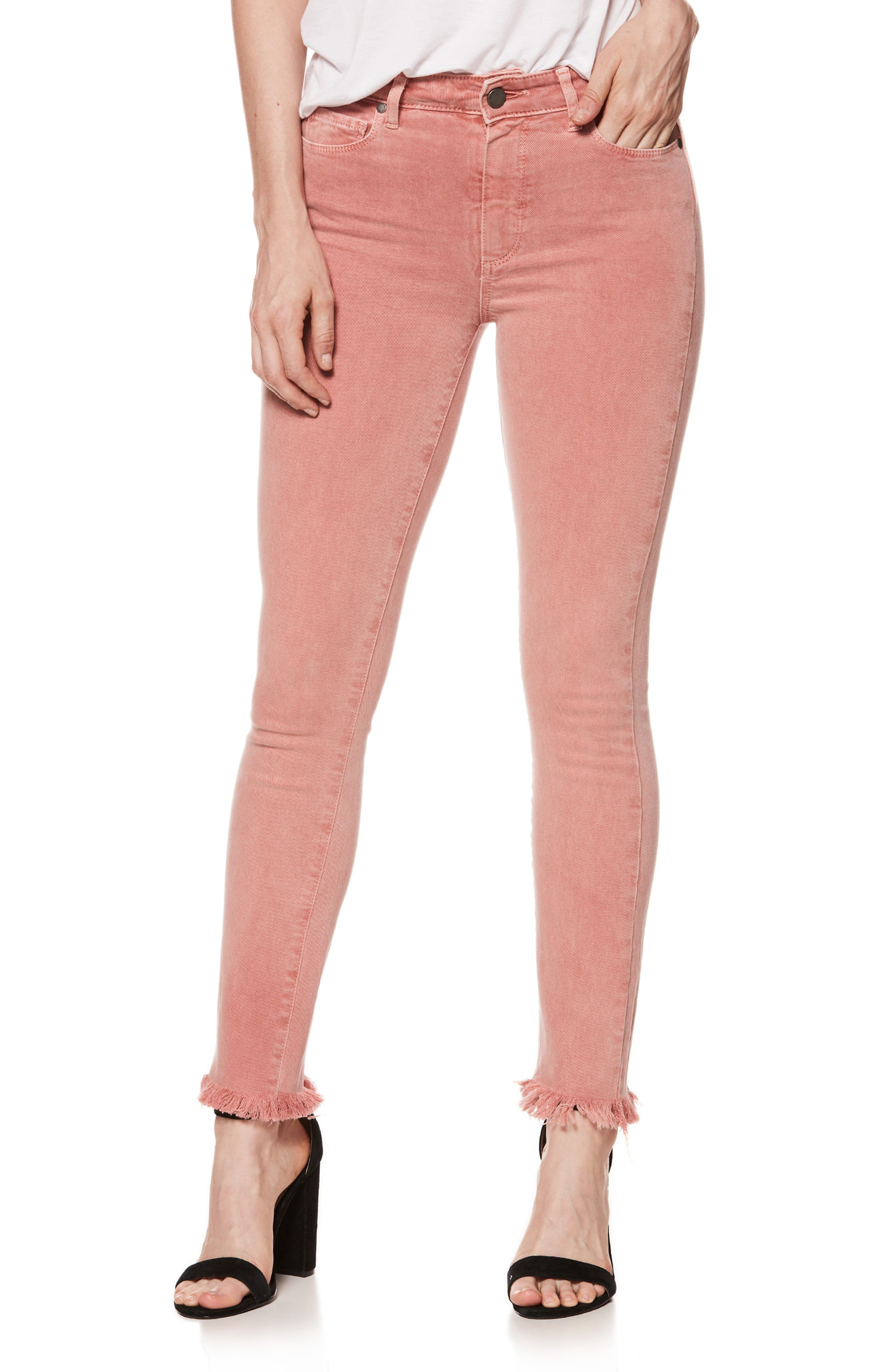 Alternate Image 1 Selected - PAIGE Hoxton High Waist Ankle Skinny Jeans