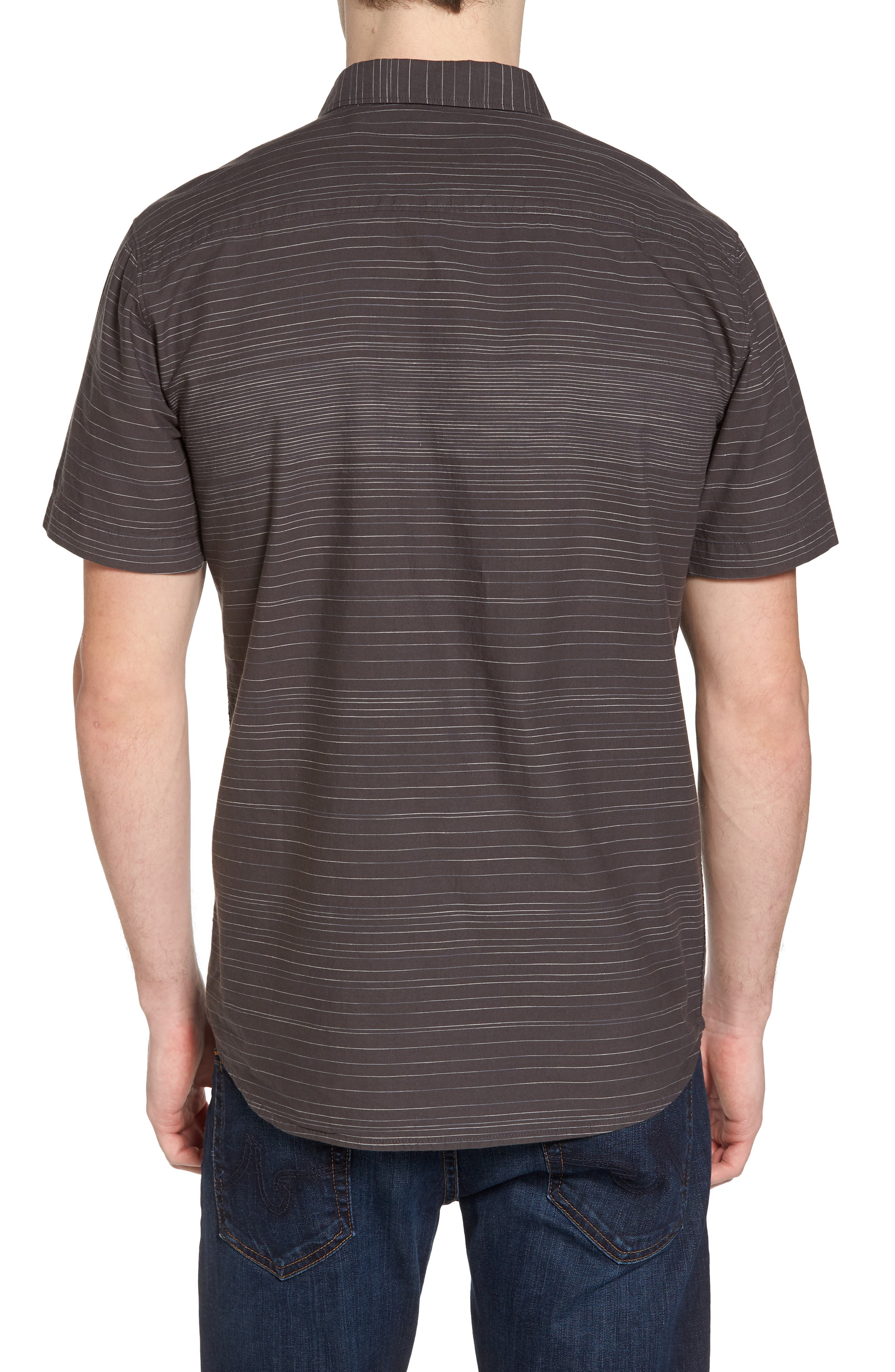 Hound Woven Shirt,                             Alternate thumbnail 2, color,                             Asphalt