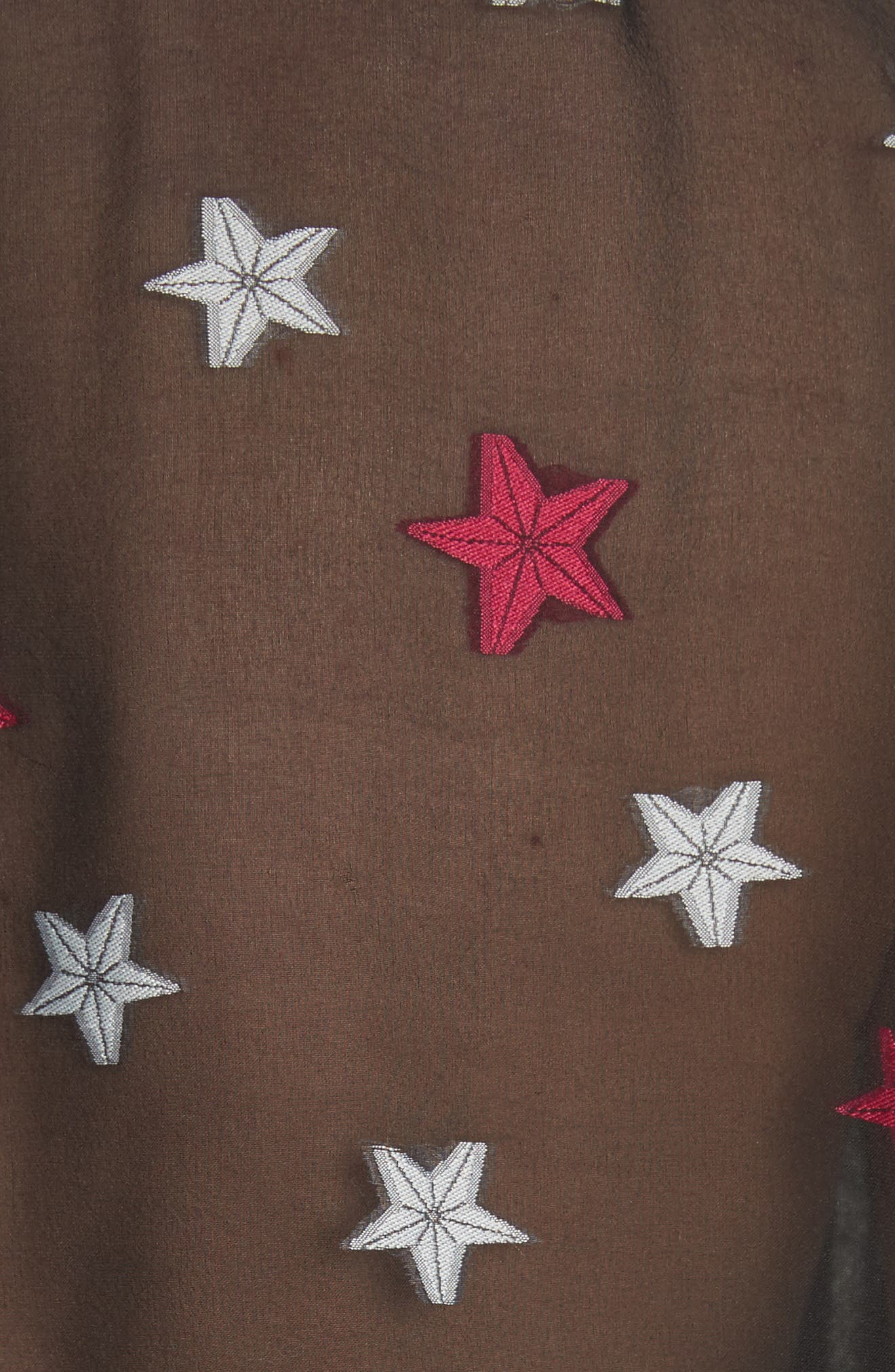 Pearson Star Print Silk Blend Shirt,                             Alternate thumbnail 6, color,                             Black Multi