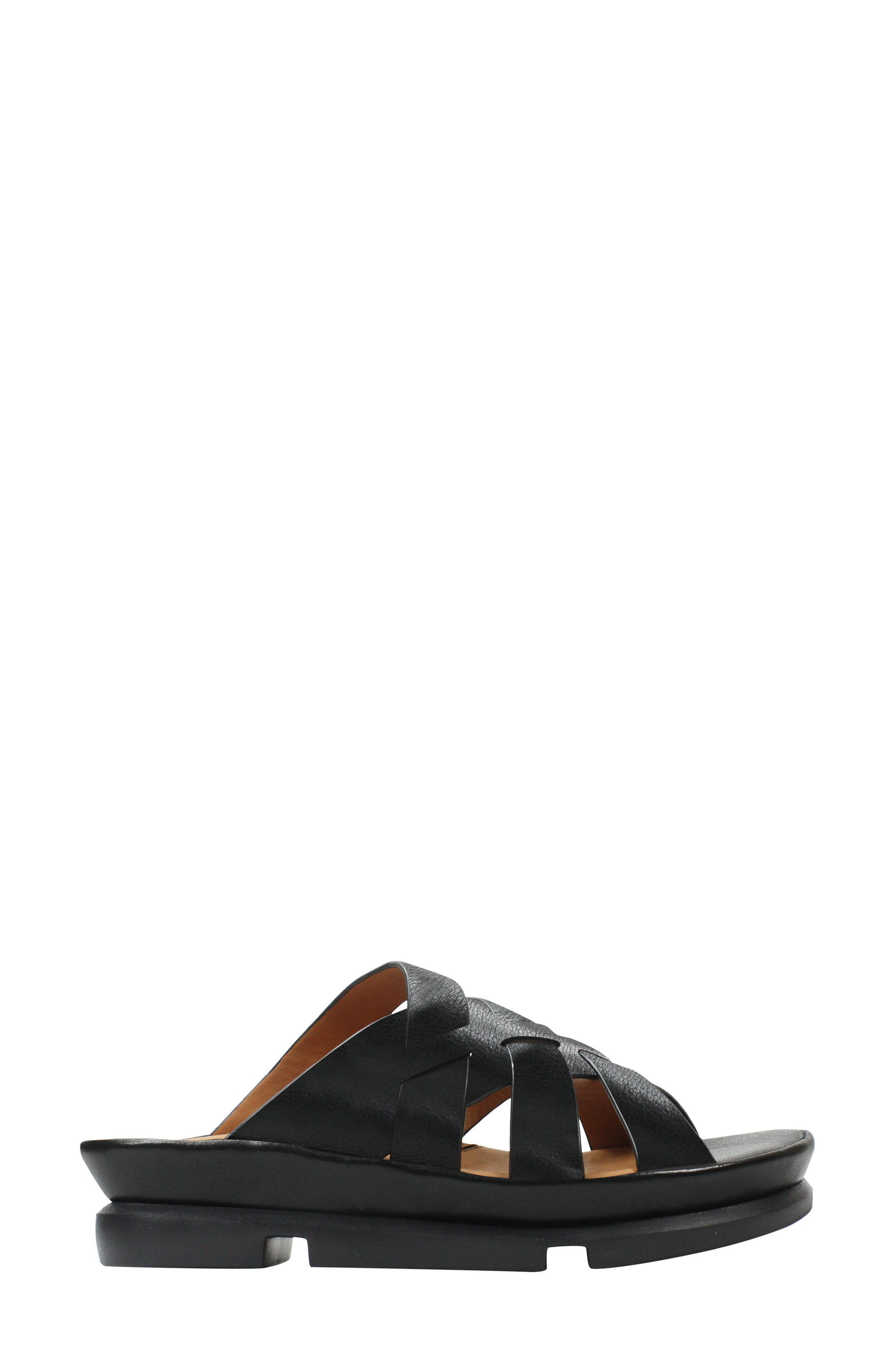 Veryl Sandal,                             Alternate thumbnail 3, color,                             Black Leather