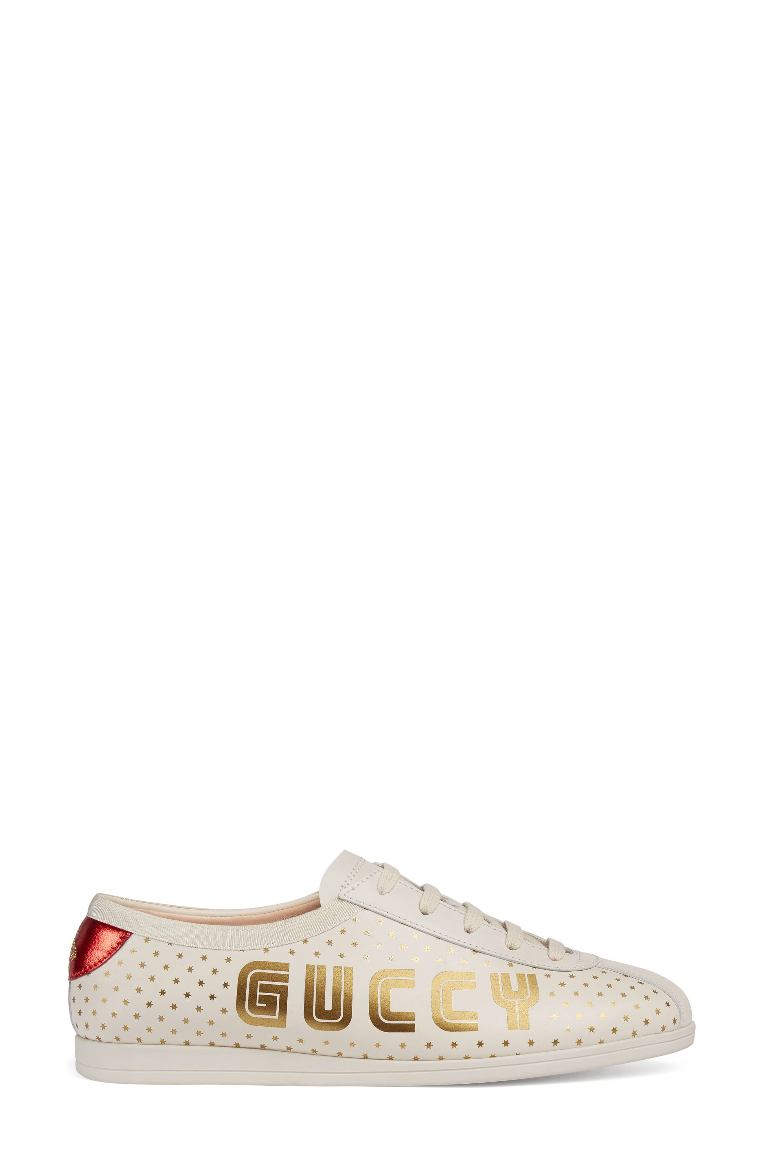 Falacer Guccy Logo Sneaker,                             Alternate thumbnail 2, color,                             White
