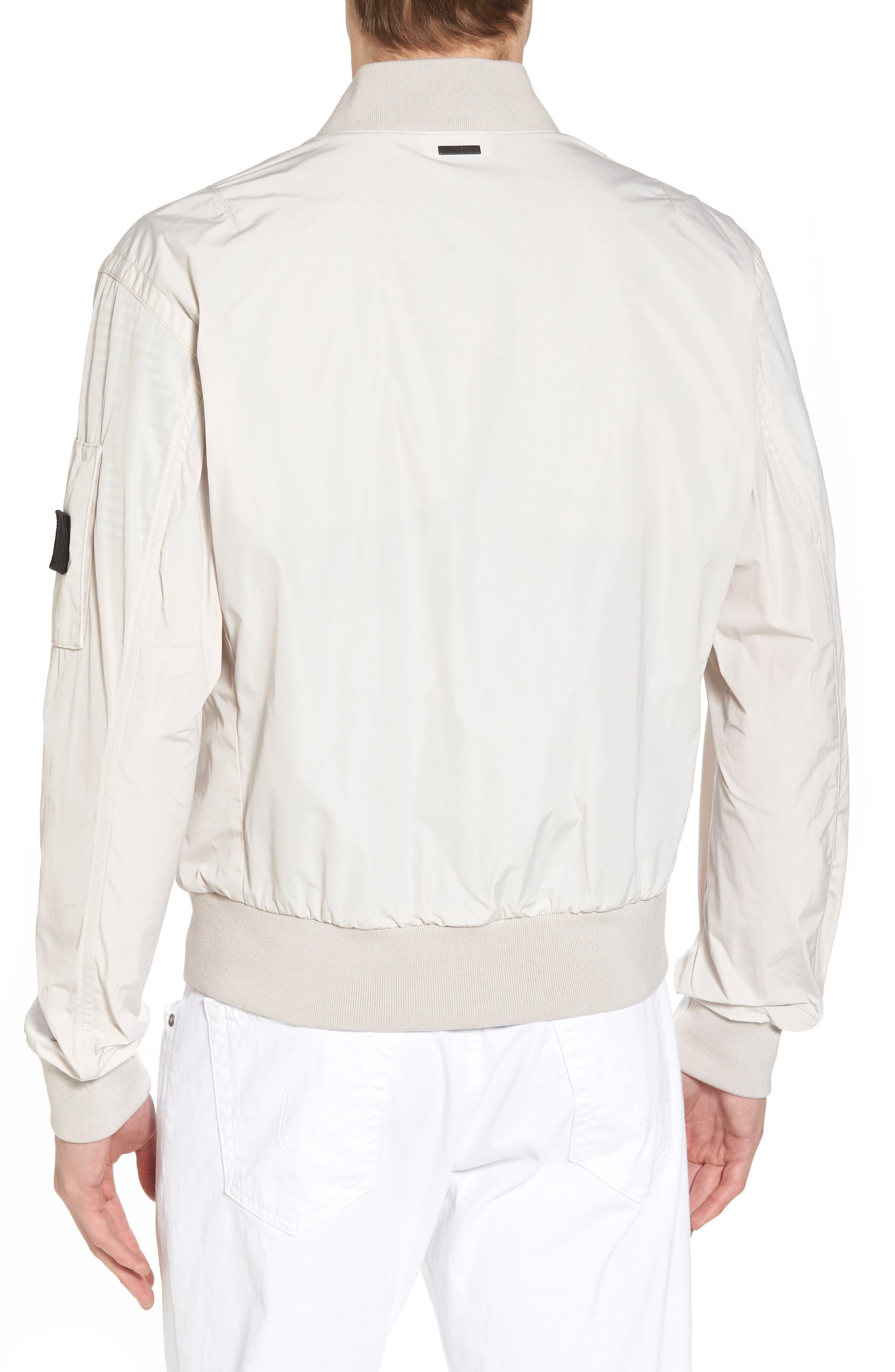 Regular Fit Bomber Jacket,                             Alternate thumbnail 2, color,                             White
