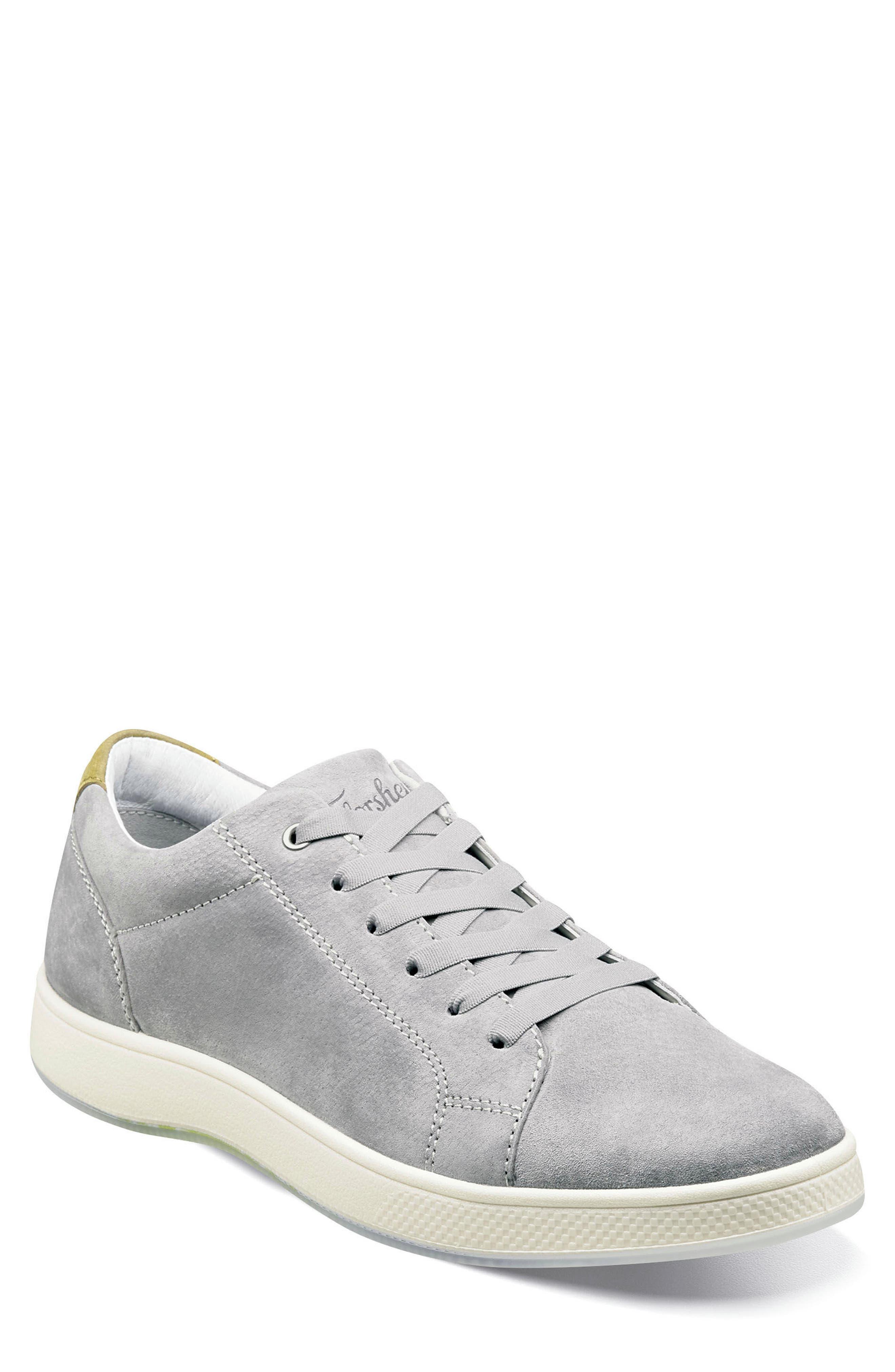 Edge Low Top Sneaker,                         Main,                         color, Gray Nubuck