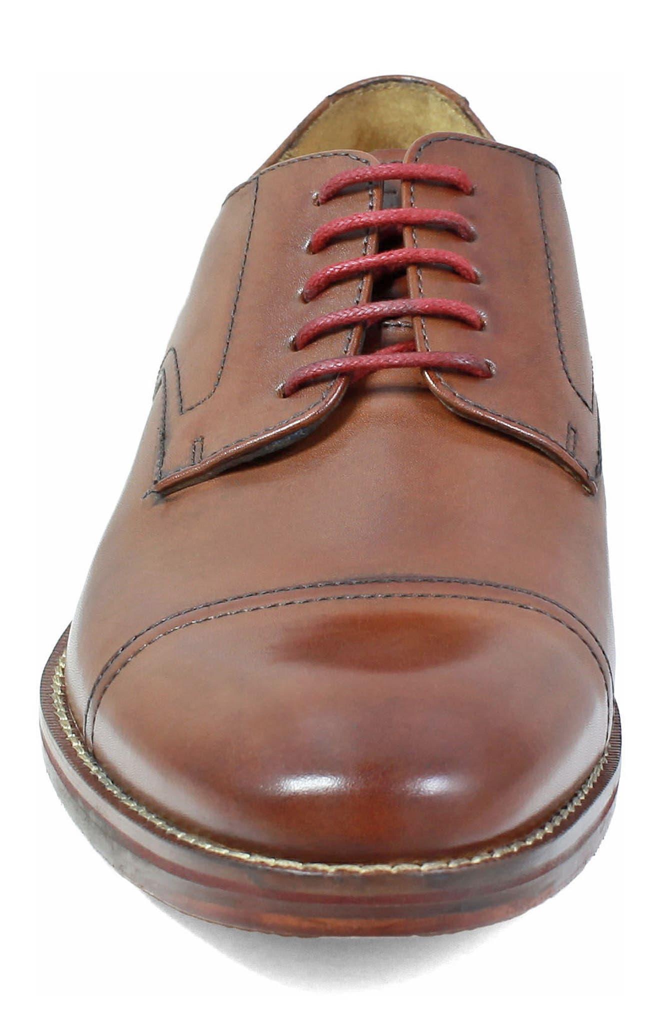 Salerno Wingtip,                             Alternate thumbnail 4, color,                             Cognac Leather