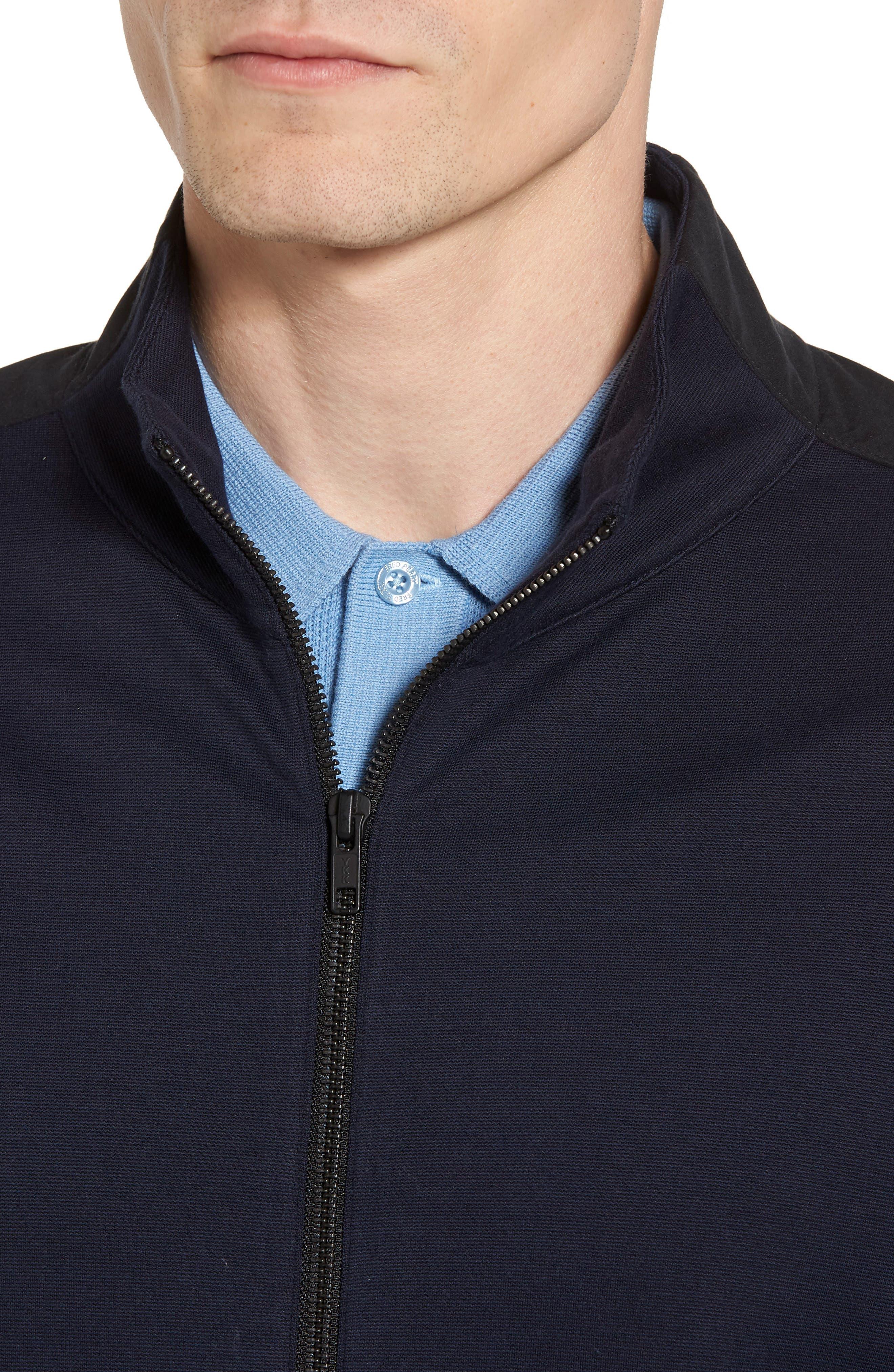 Fleece Jacket,                             Alternate thumbnail 4, color,                             Navy Night Black
