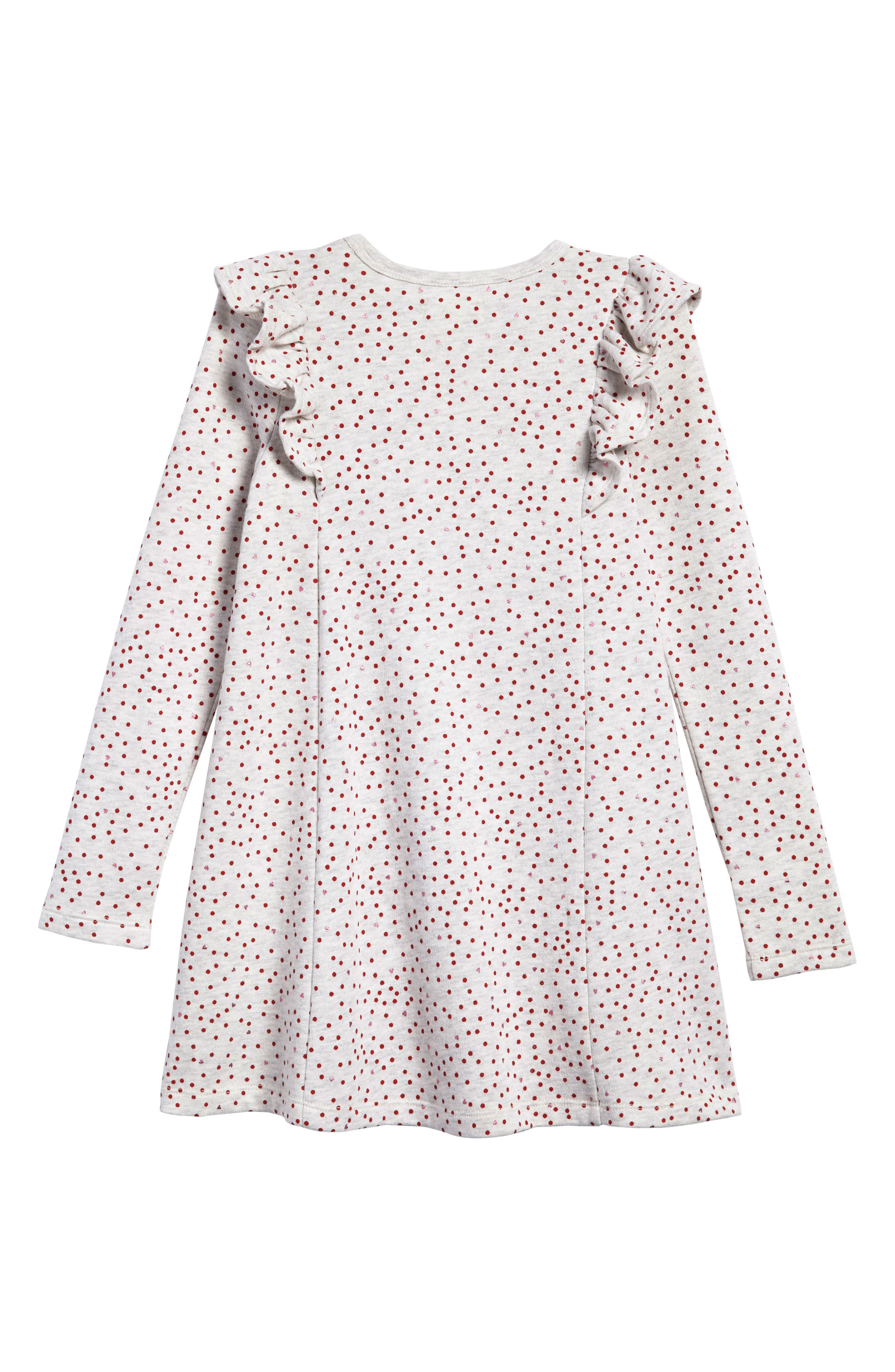 Main Image - Tucker + Tate Ruffle Fleece Sweater Dress (Toddler Girls, Little Girls & Big Girls)