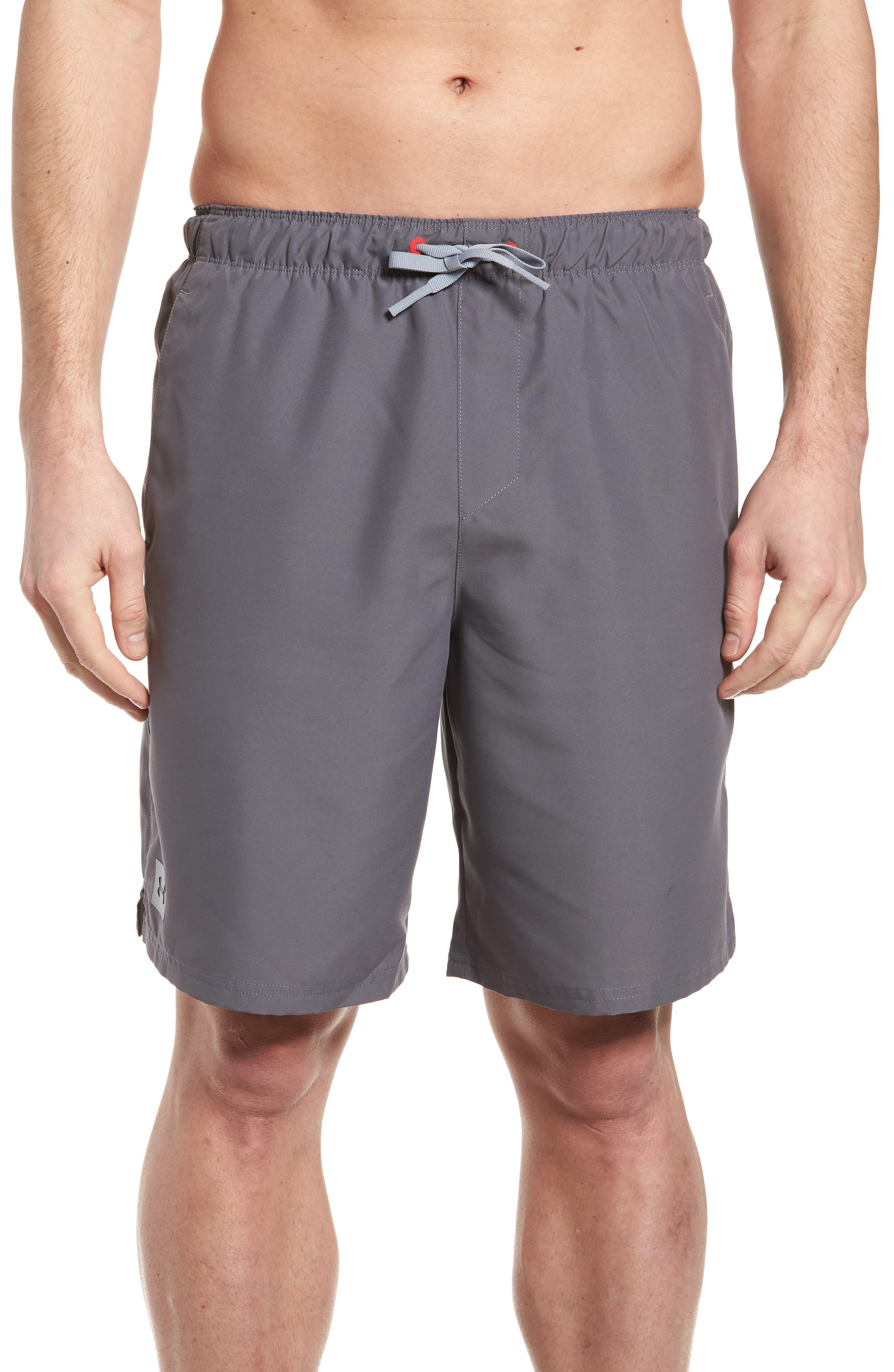 Mania Athletic Shorts,                         Main,                         color, Graphite / Pierce / Grey