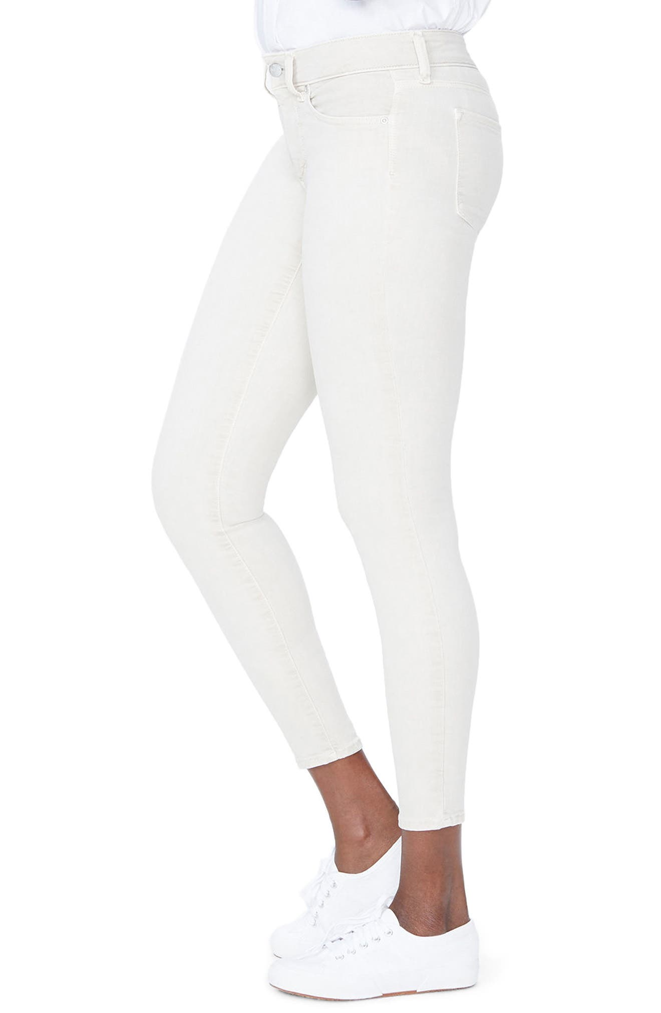 Ami Ankle Skinny Jeans,                             Alternate thumbnail 3, color,                             Feather