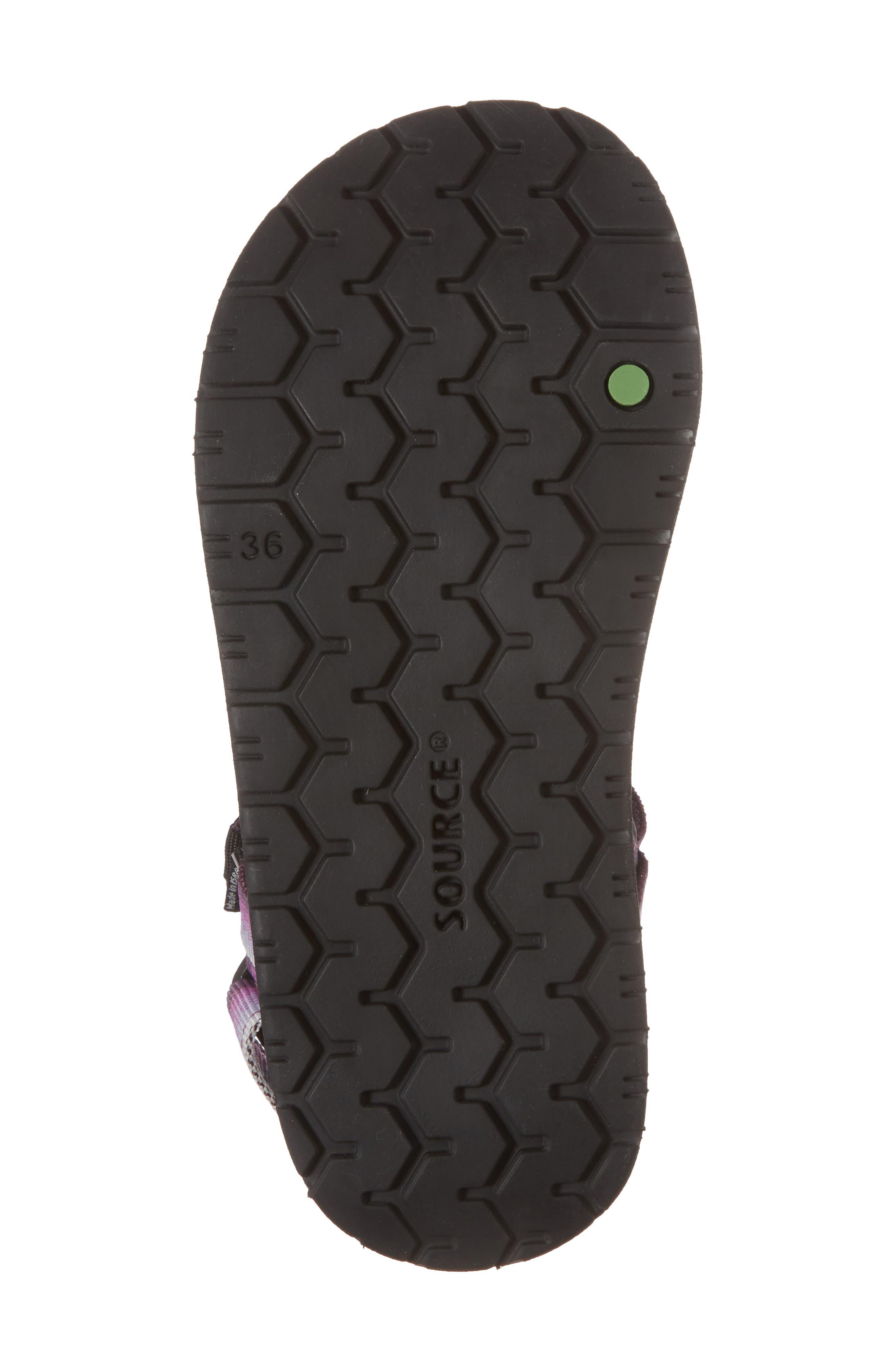 Haven Waterproof Sandal,                             Alternate thumbnail 6, color,                             Purple Sunset Fabric