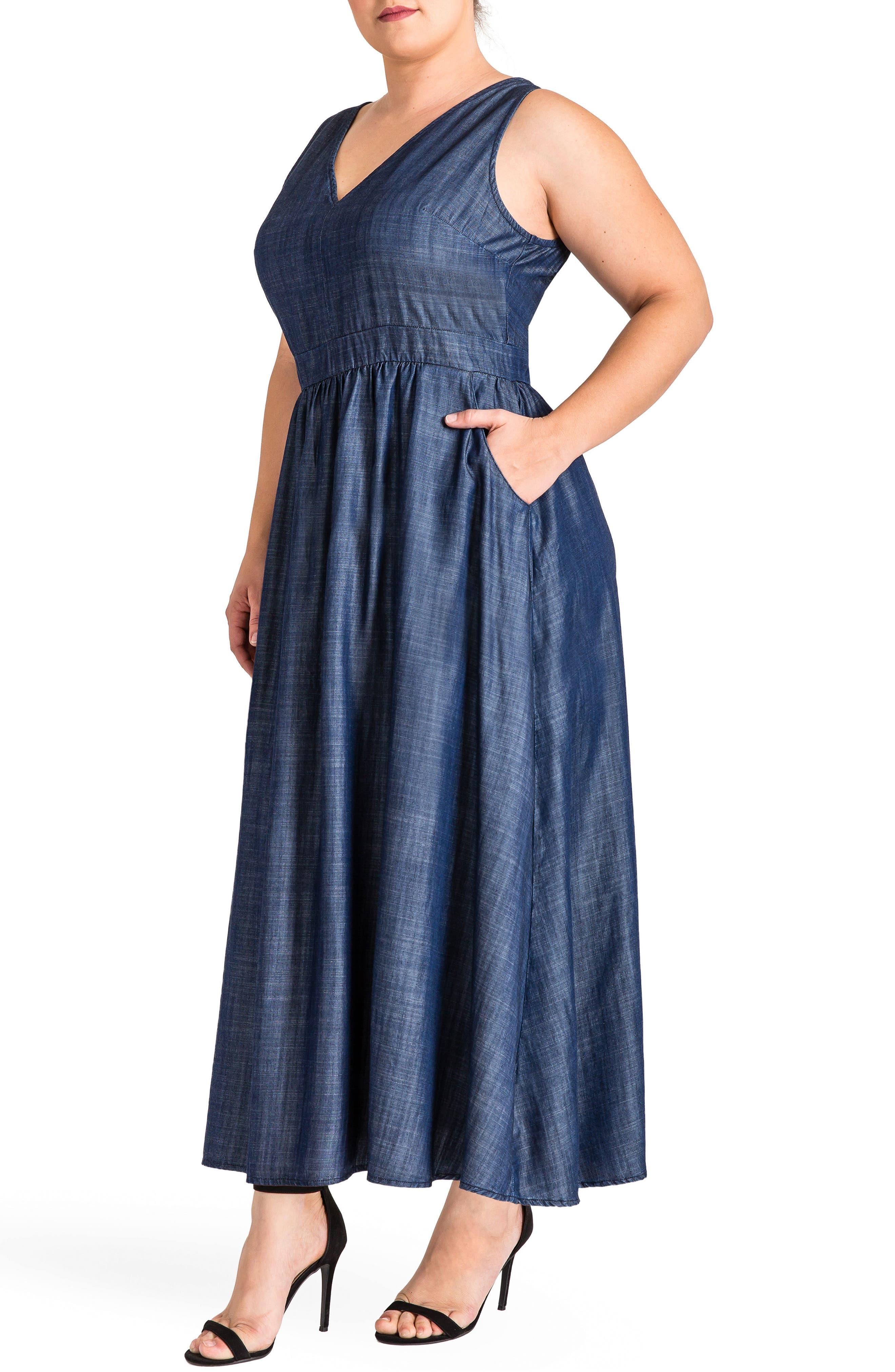 Nimah Maxi Dress,                             Alternate thumbnail 3, color,                             Dark Blue