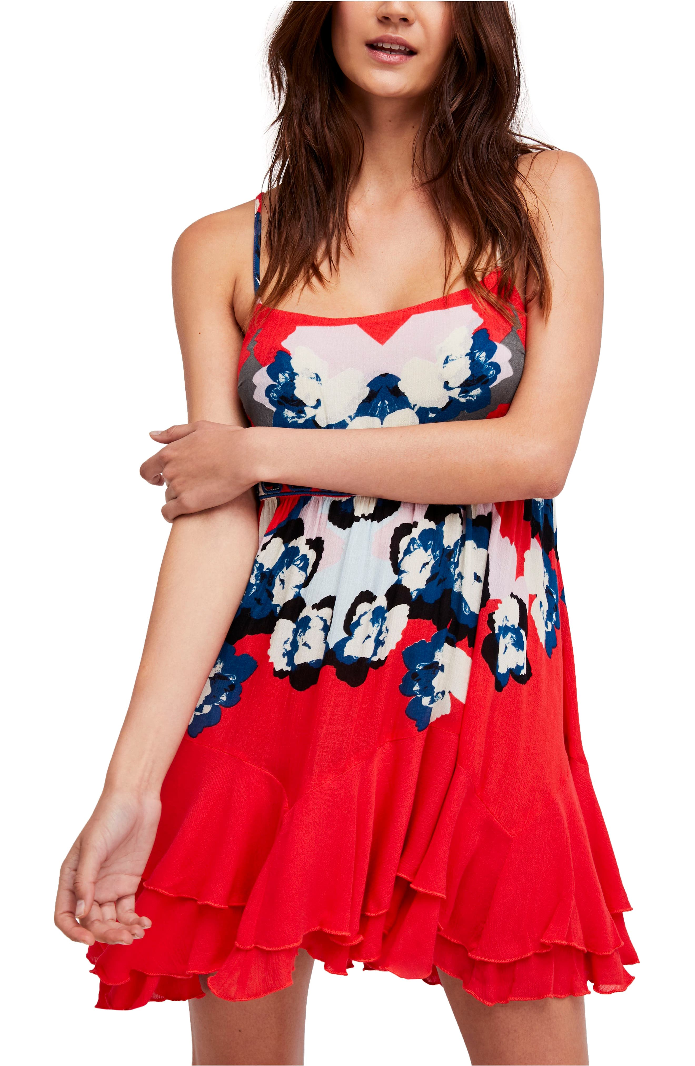 Sweet Lucy Slipdress,                         Main,                         color, Red
