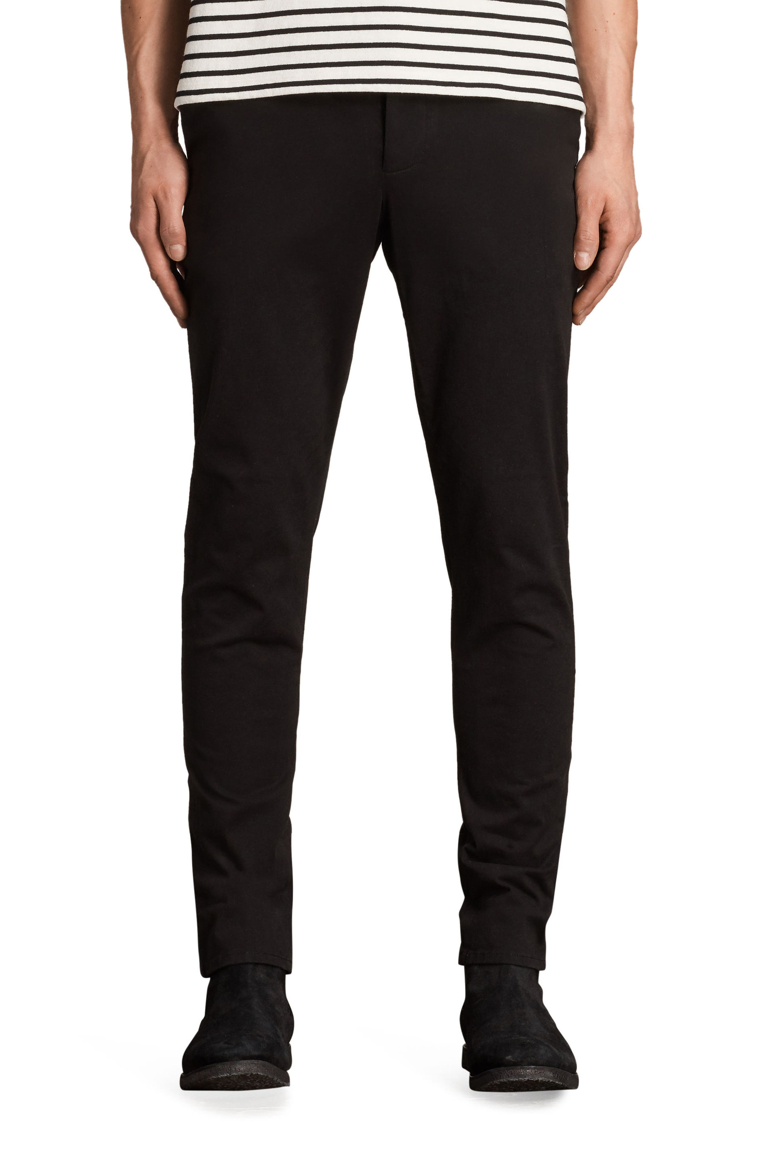Park Skinny Fit Chino Pants,                         Main,                         color, Black