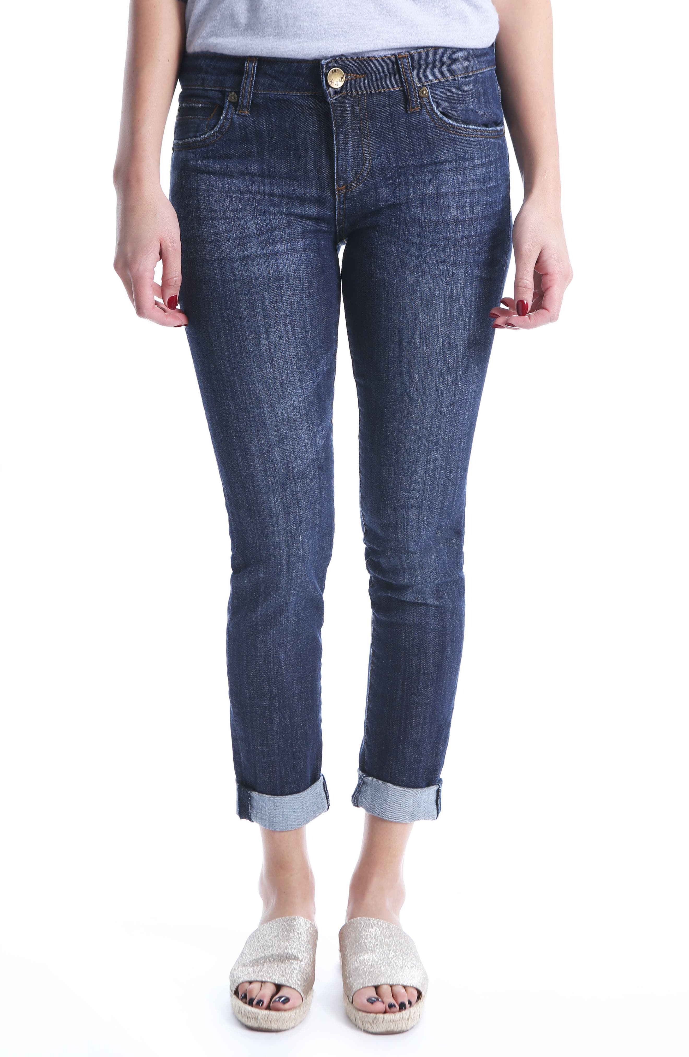 Alternate Image 1 Selected - KUT from the Kloth Catherine Boyfriend Jeans (Regular & Petite) (Enticement)
