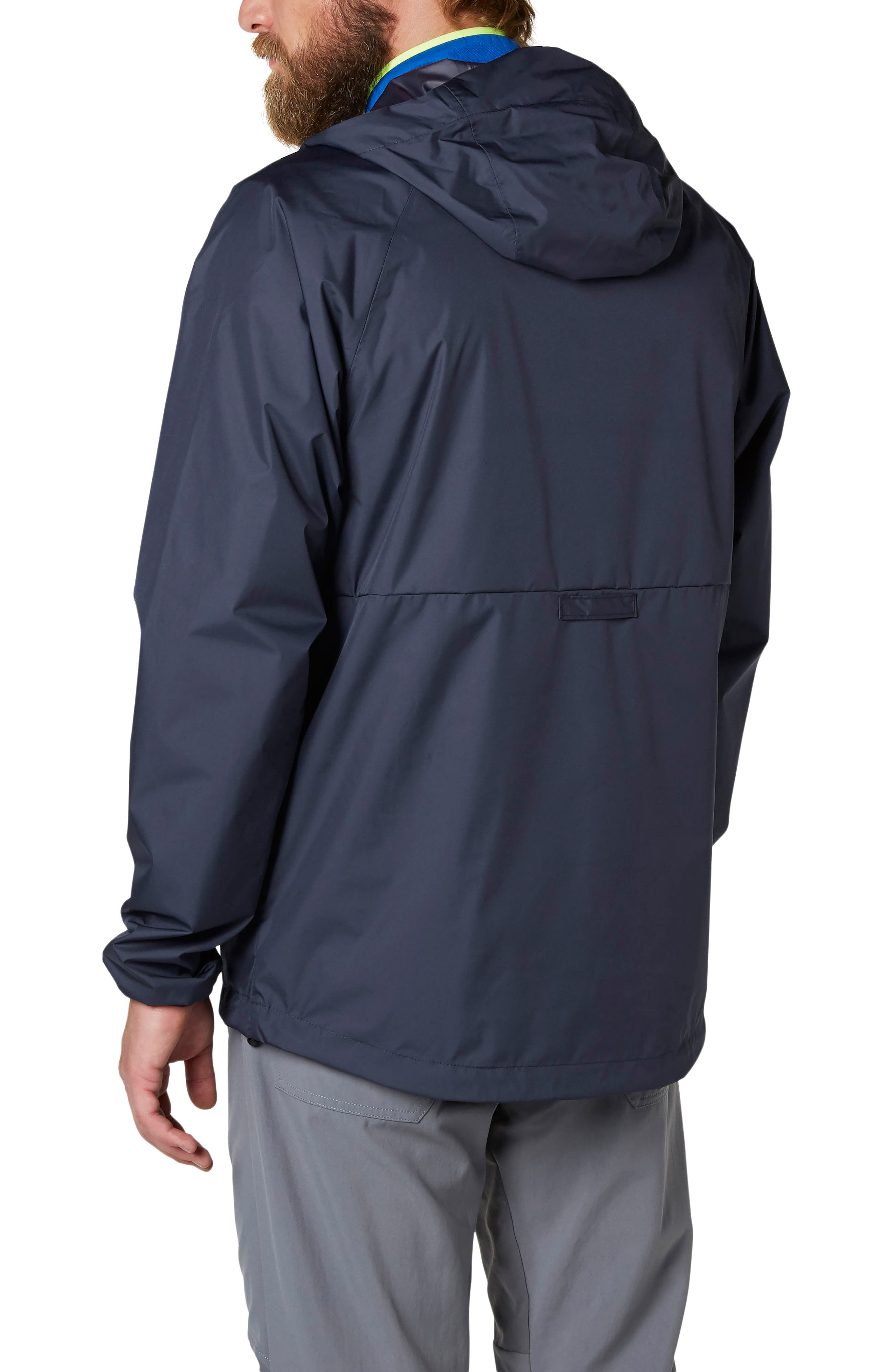 Loke Packable Anorak,                             Alternate thumbnail 2, color,                             Graphite Blue