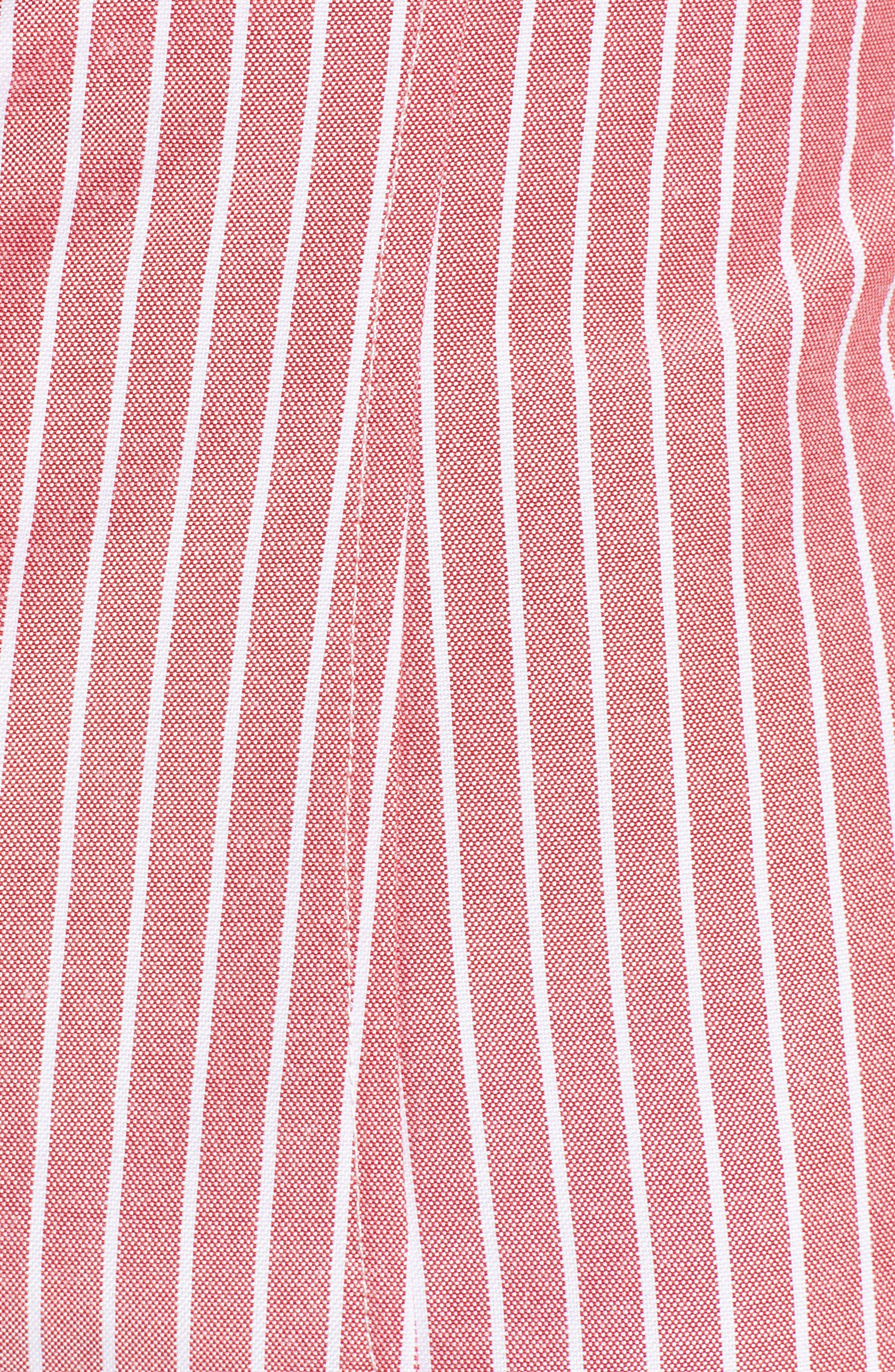 Frankie Lace-Up Minidress,                             Alternate thumbnail 5, color,                             Red Stripe