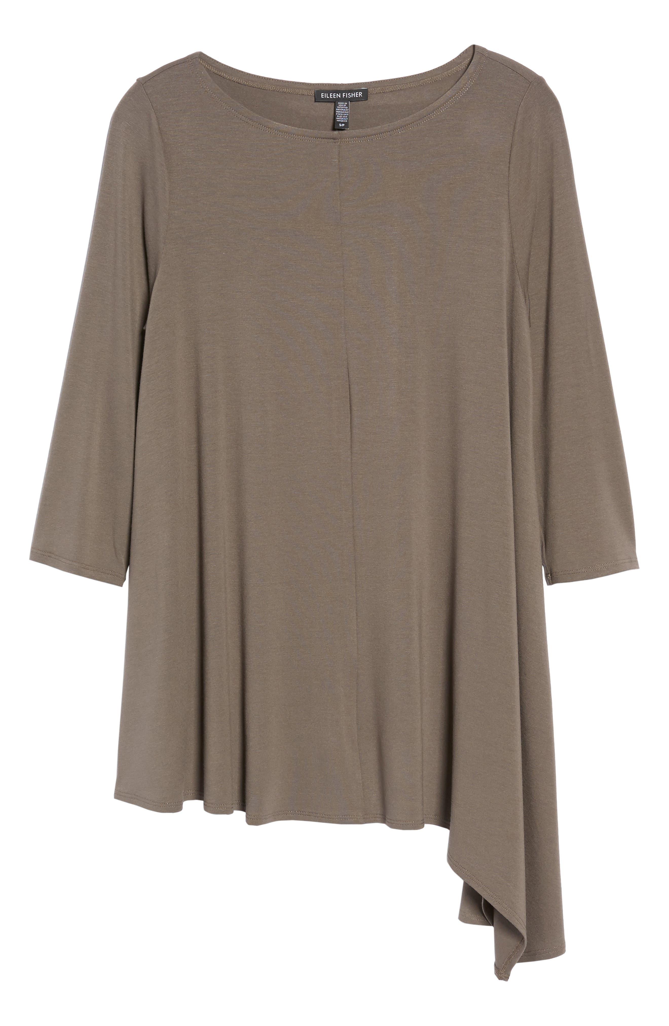 Asymmetrical Jersey Top,                             Alternate thumbnail 6, color,                             Rye