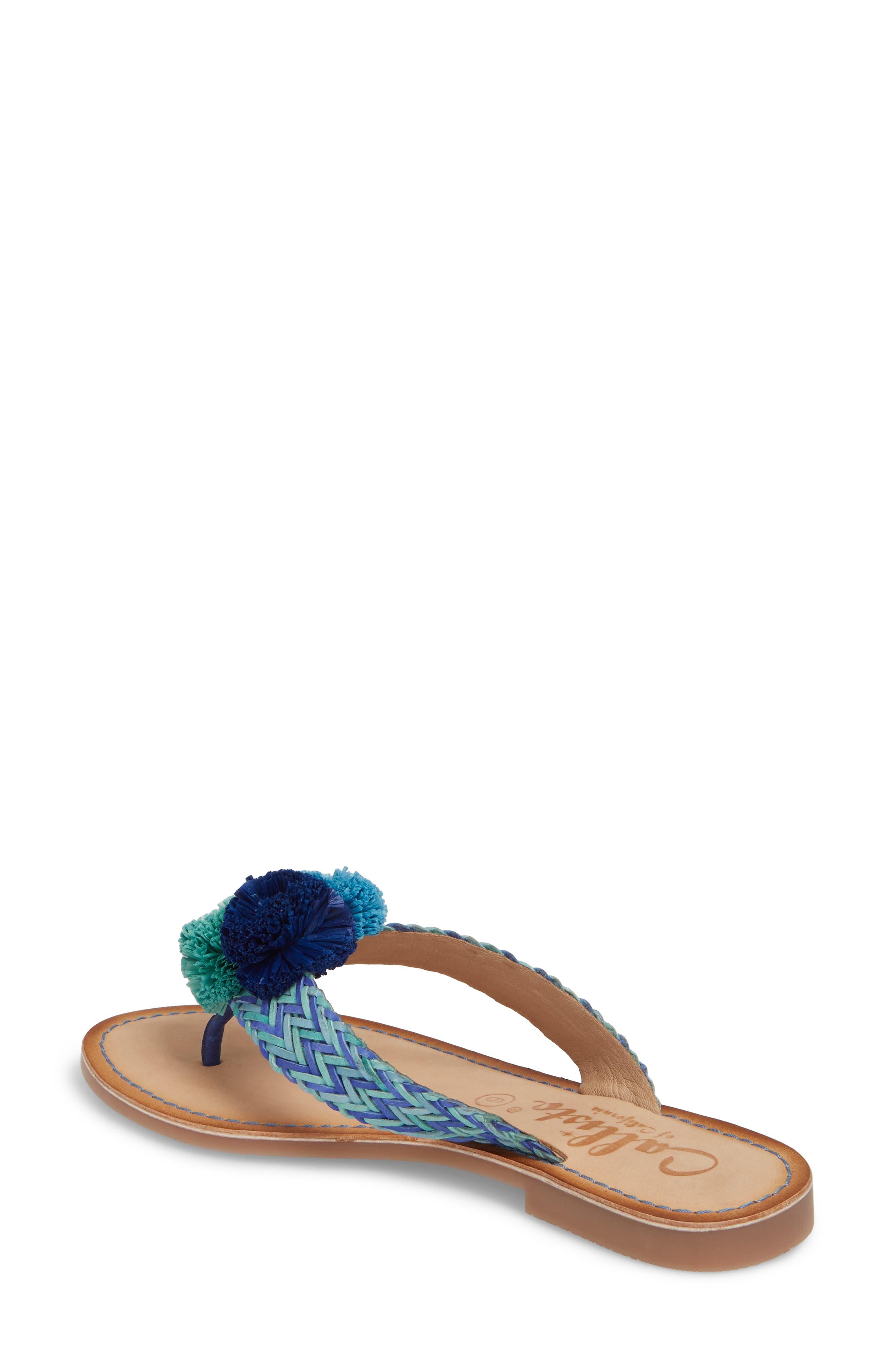 Pomm Flip Flop,                             Alternate thumbnail 2, color,                             Blue Leather