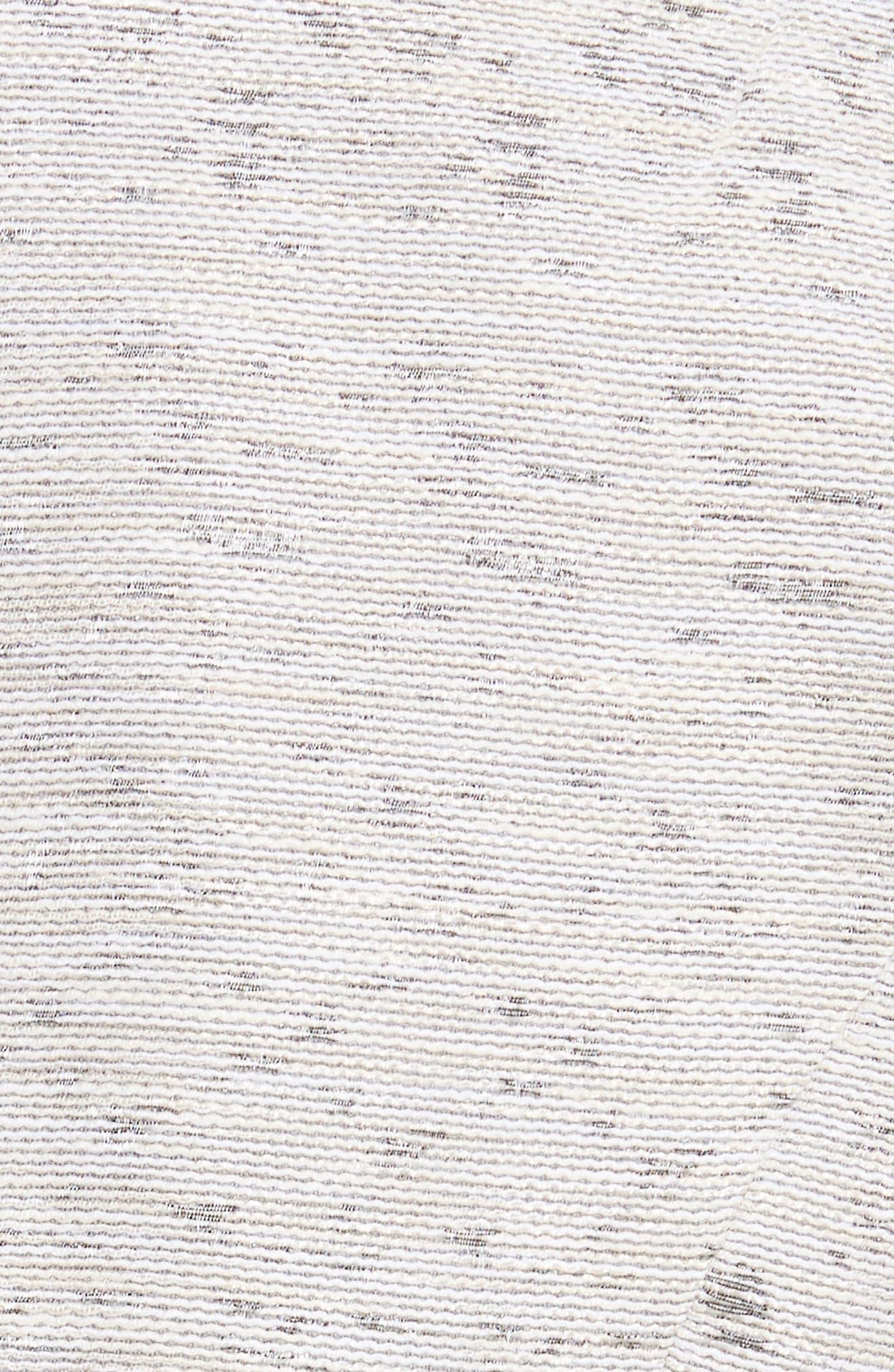 Zanna Metallic Knit Blazer,                             Alternate thumbnail 6, color,                             Raffia Multi